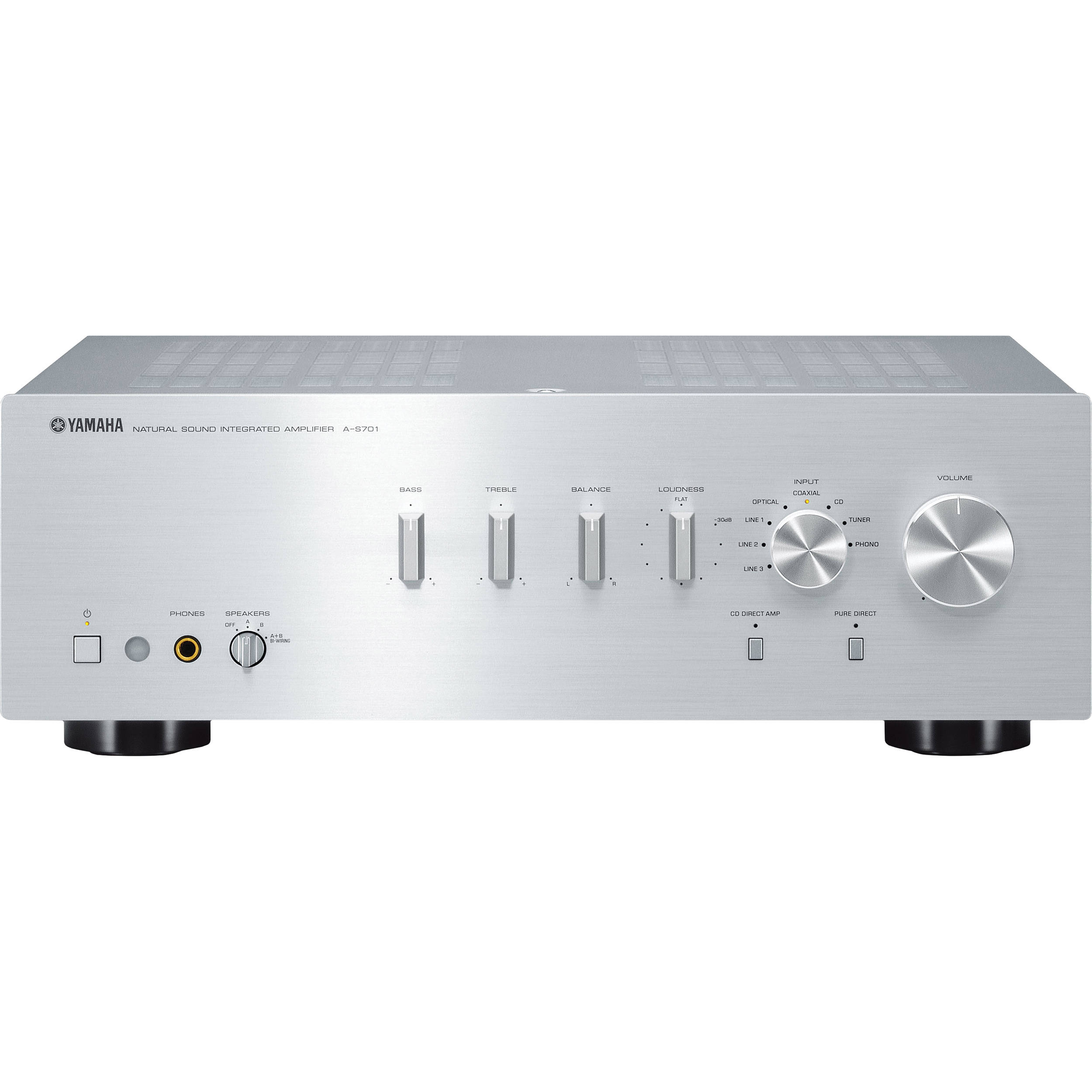 Yamaha a s701 integrated amplifier silver a s701sl b h photo for Yamaha integrated amplifier review