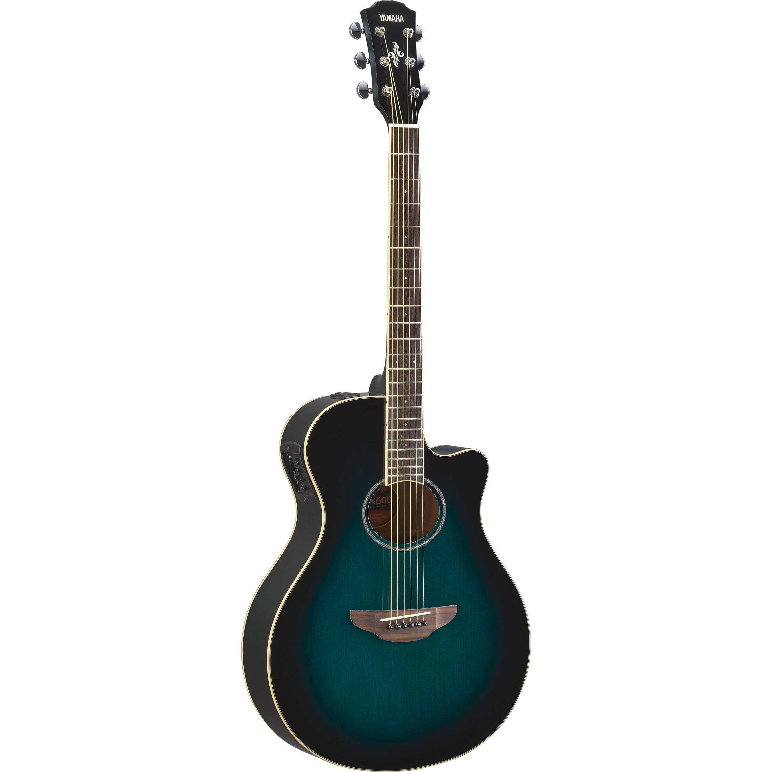 Guitars & Basses Yamaha Acoustic Guitar Apx600 Obb Oriental Blue Burst From Japan