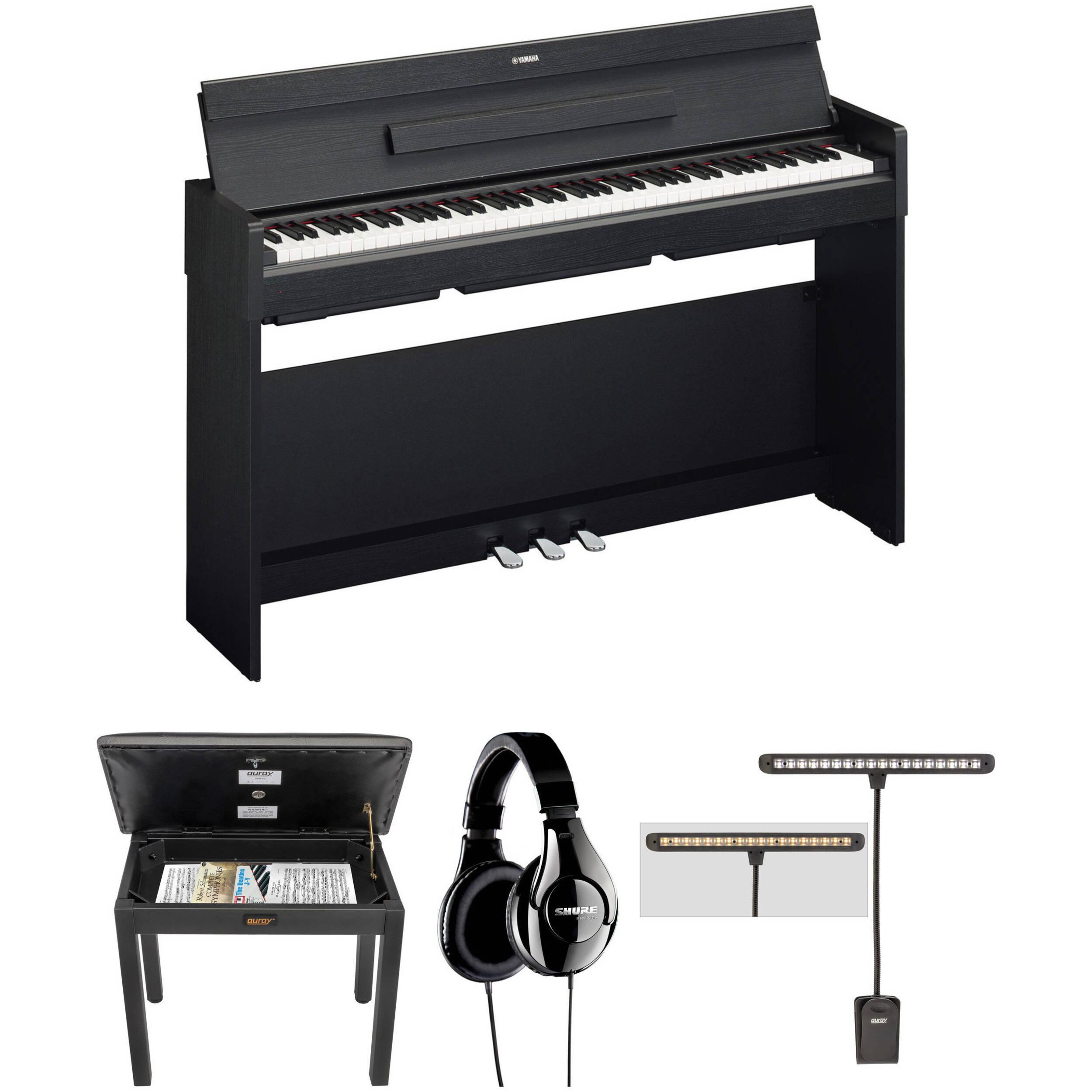 yamaha arius ydp s34 digital piano kit with bench headphones. Black Bedroom Furniture Sets. Home Design Ideas