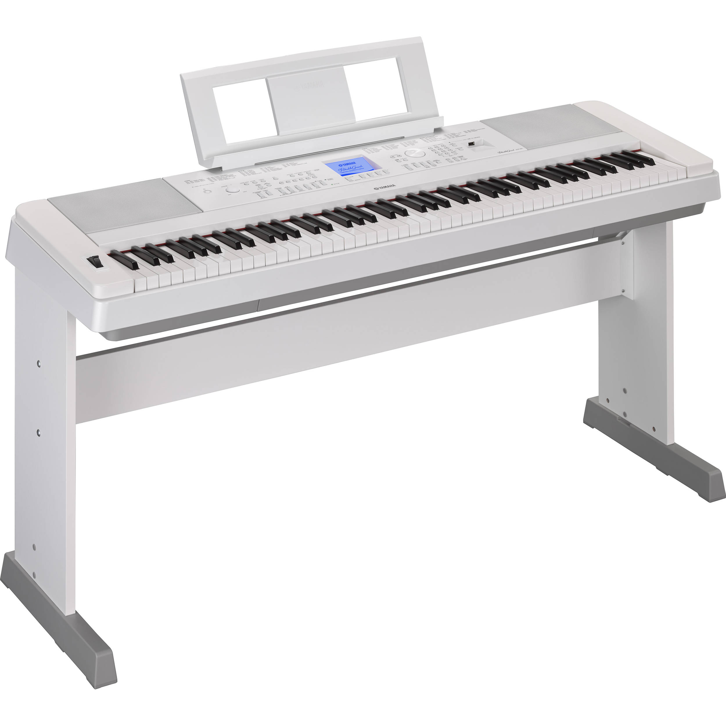 yamaha dgx 660 portable grand digital piano white dgx660wh b h. Black Bedroom Furniture Sets. Home Design Ideas