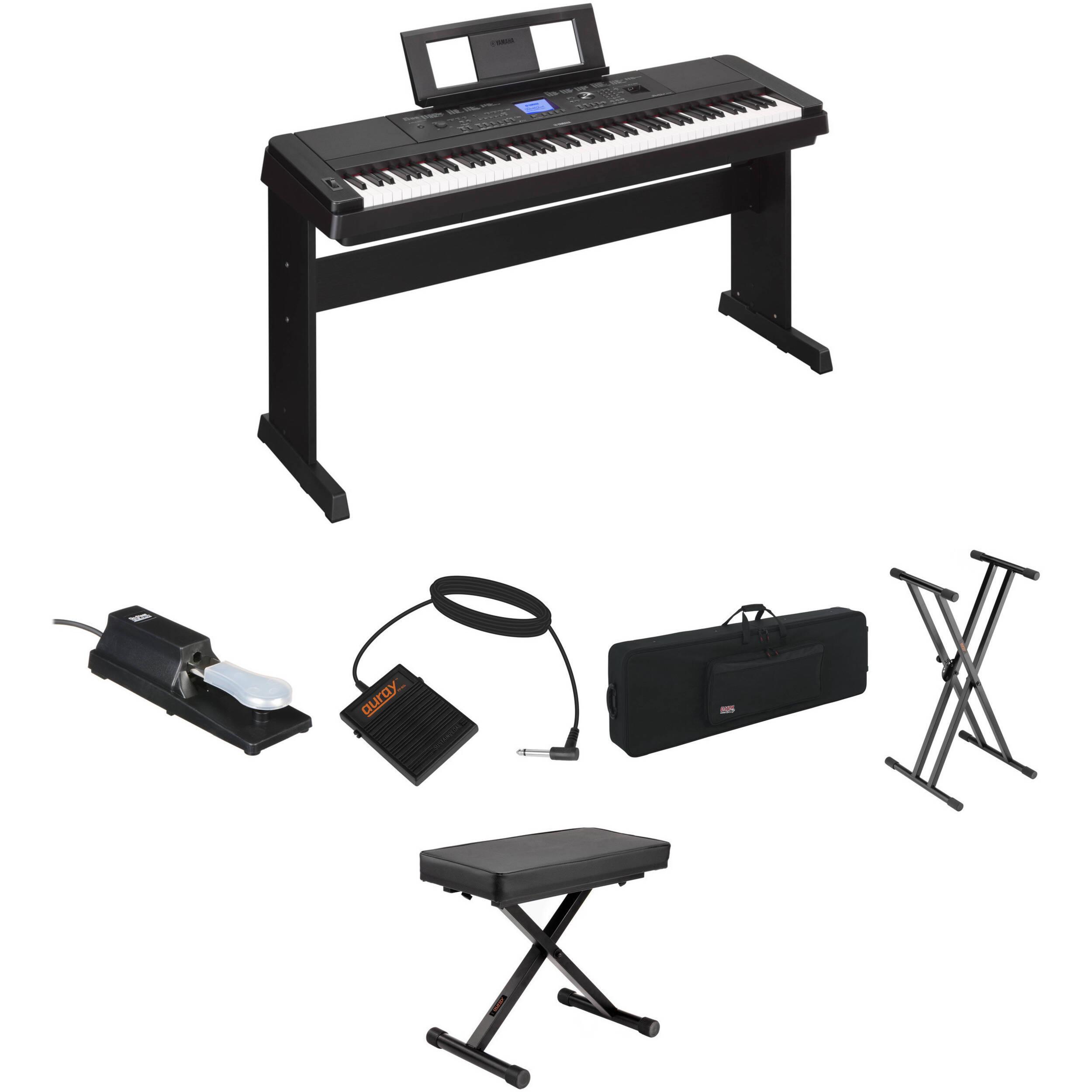 Yamaha DGX-660 Portable Grand Digital Piano (Black)
