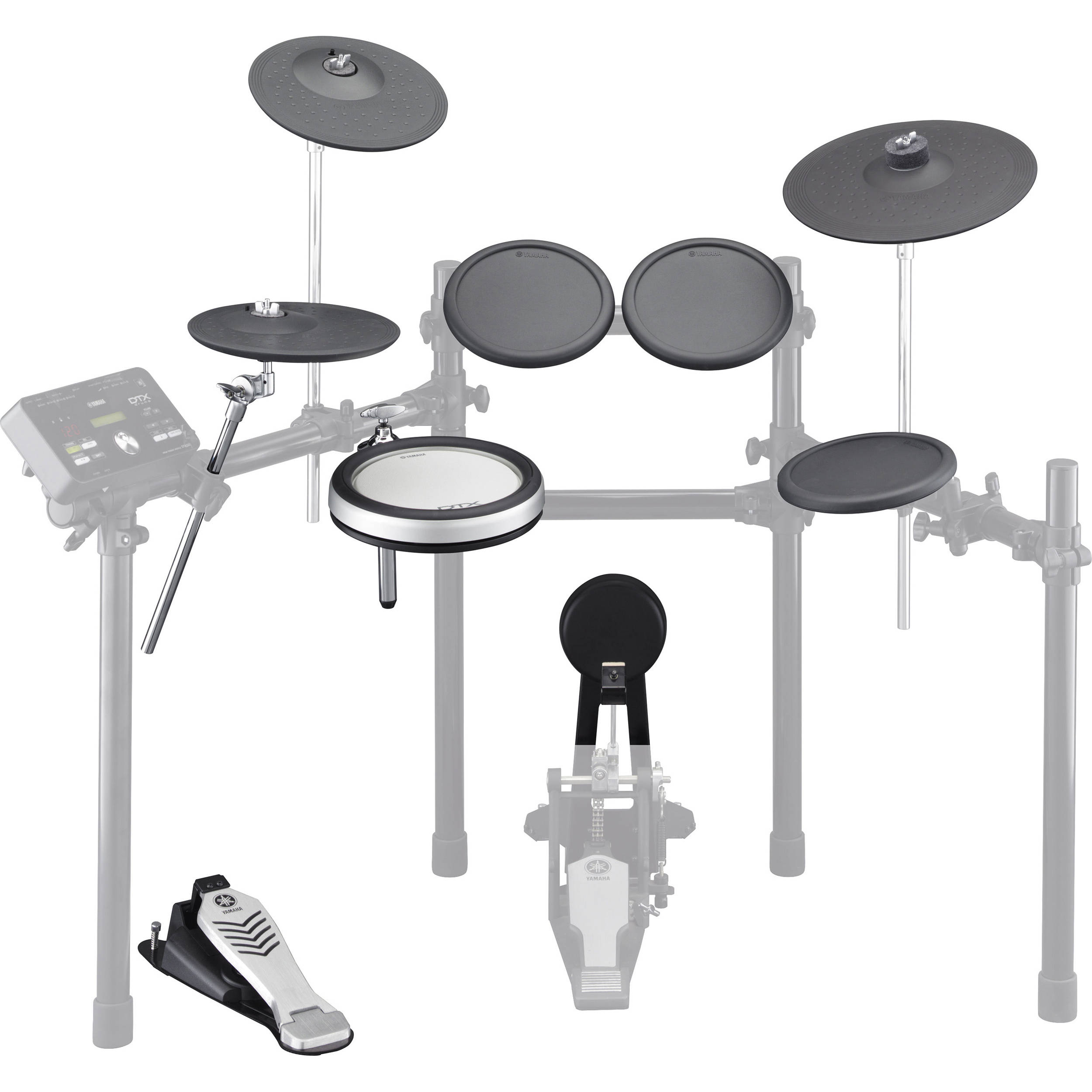 yamaha electronic drum and cymbal pad set for the dtx522k
