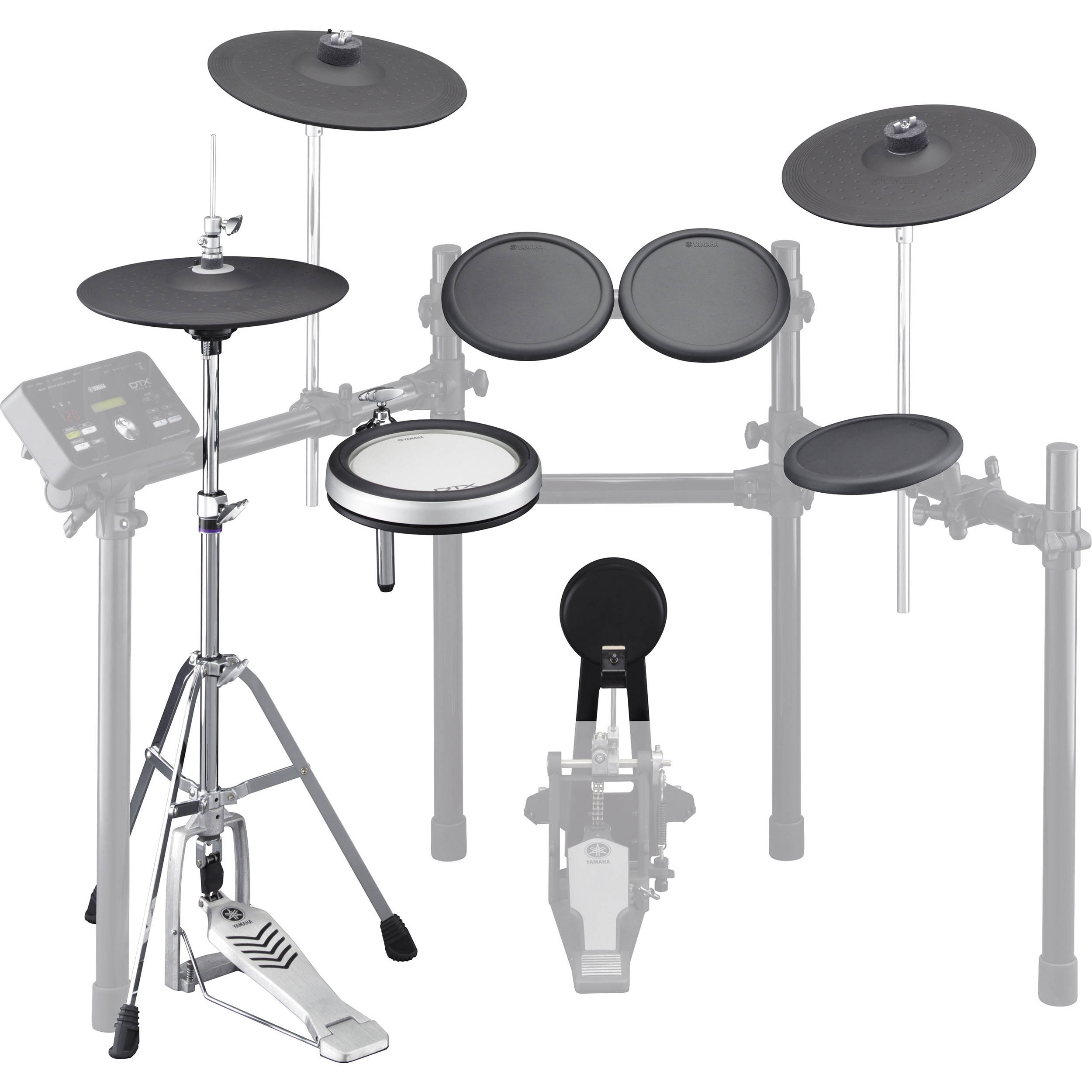 yamaha electronic drum and cymbal pad set for the dtx532k