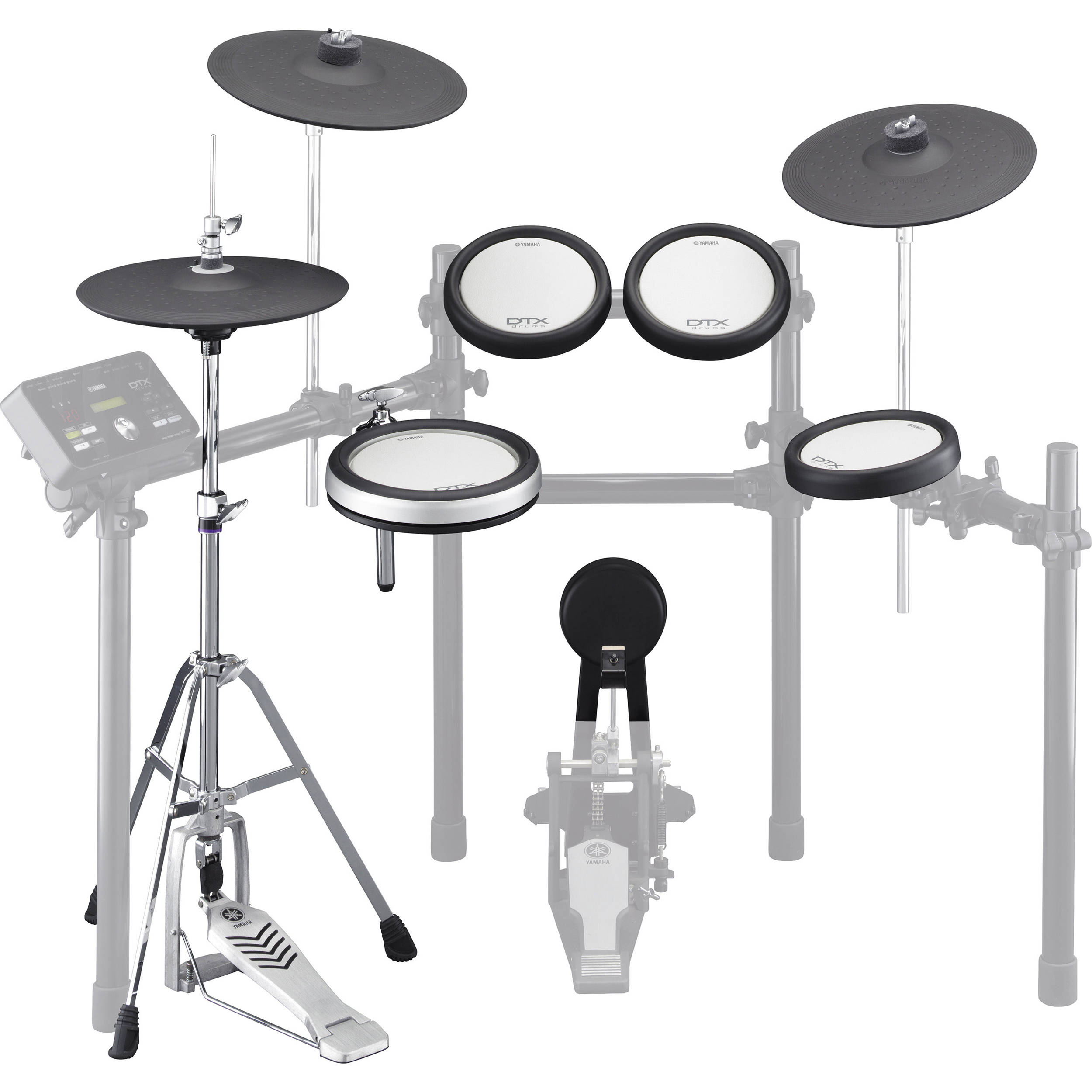 Yamaha electronic drum and cymbal pad set for the dtx562k for Yamaha electronic drum set