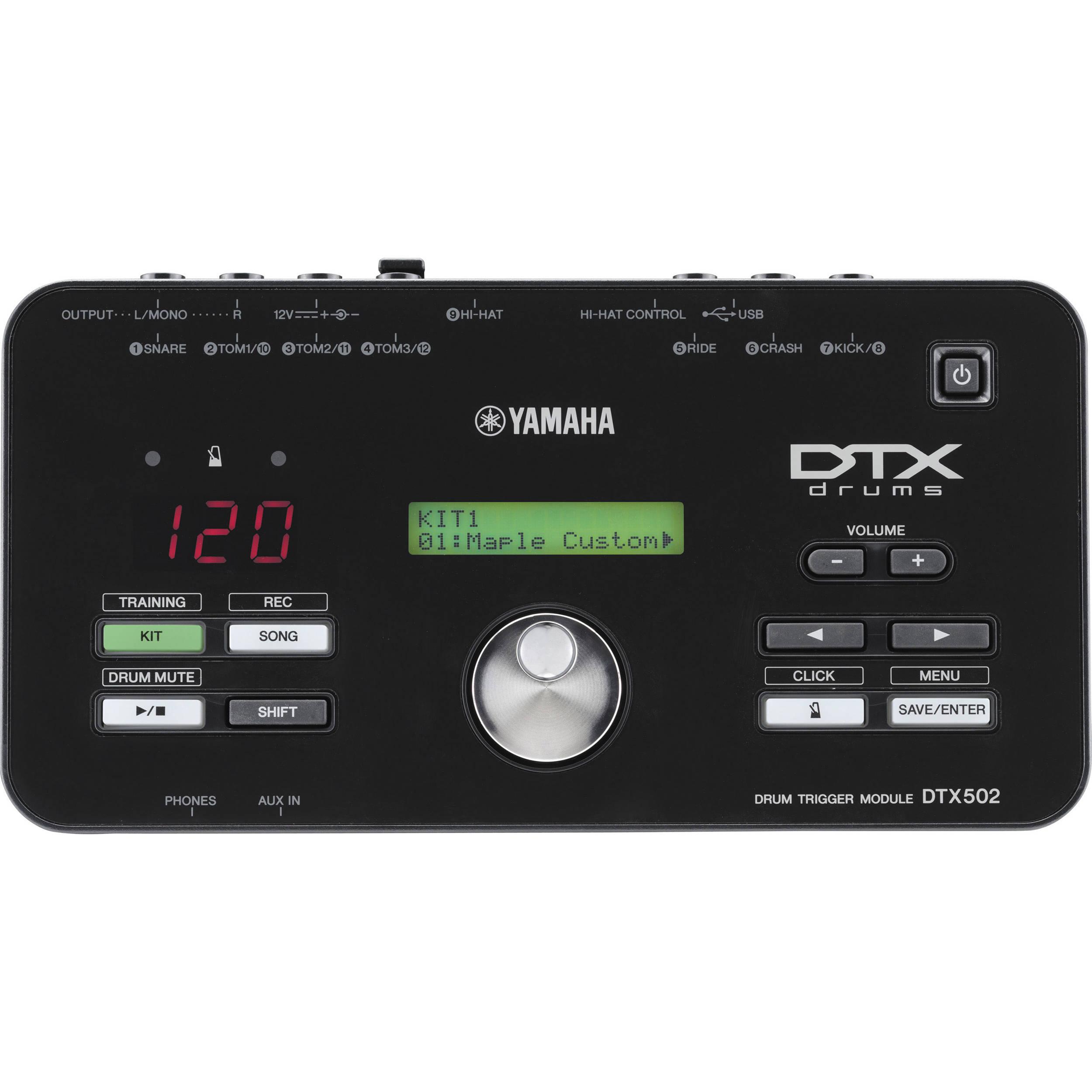Yamaha Drum Trigger Module Dtx502 : yamaha dtx502 electronic drum trigger module dtx502 b h photo ~ Russianpoet.info Haus und Dekorationen