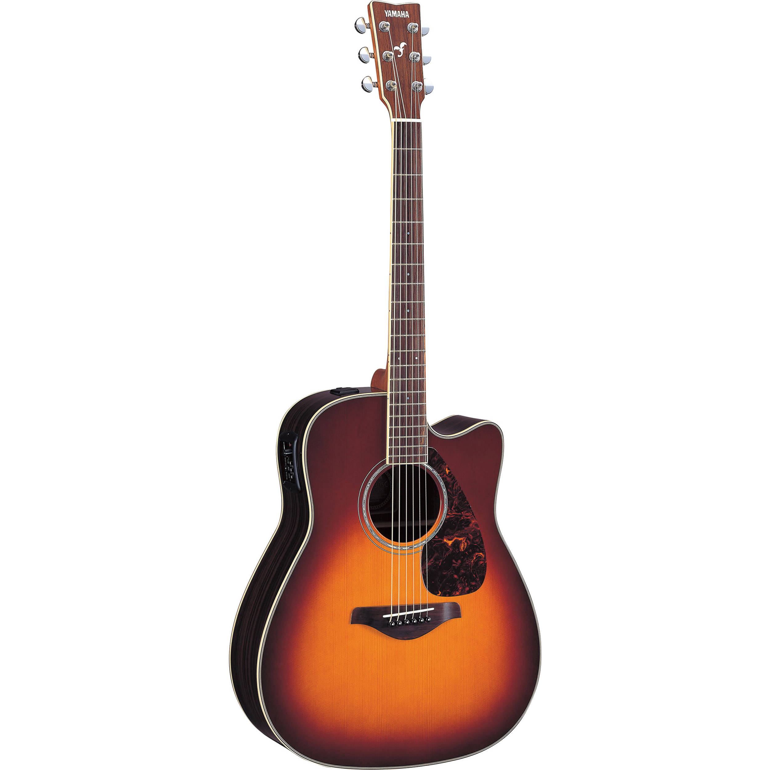 yamaha fgx730sc acoustic electric guitar fgx730sc bs b h photo. Black Bedroom Furniture Sets. Home Design Ideas