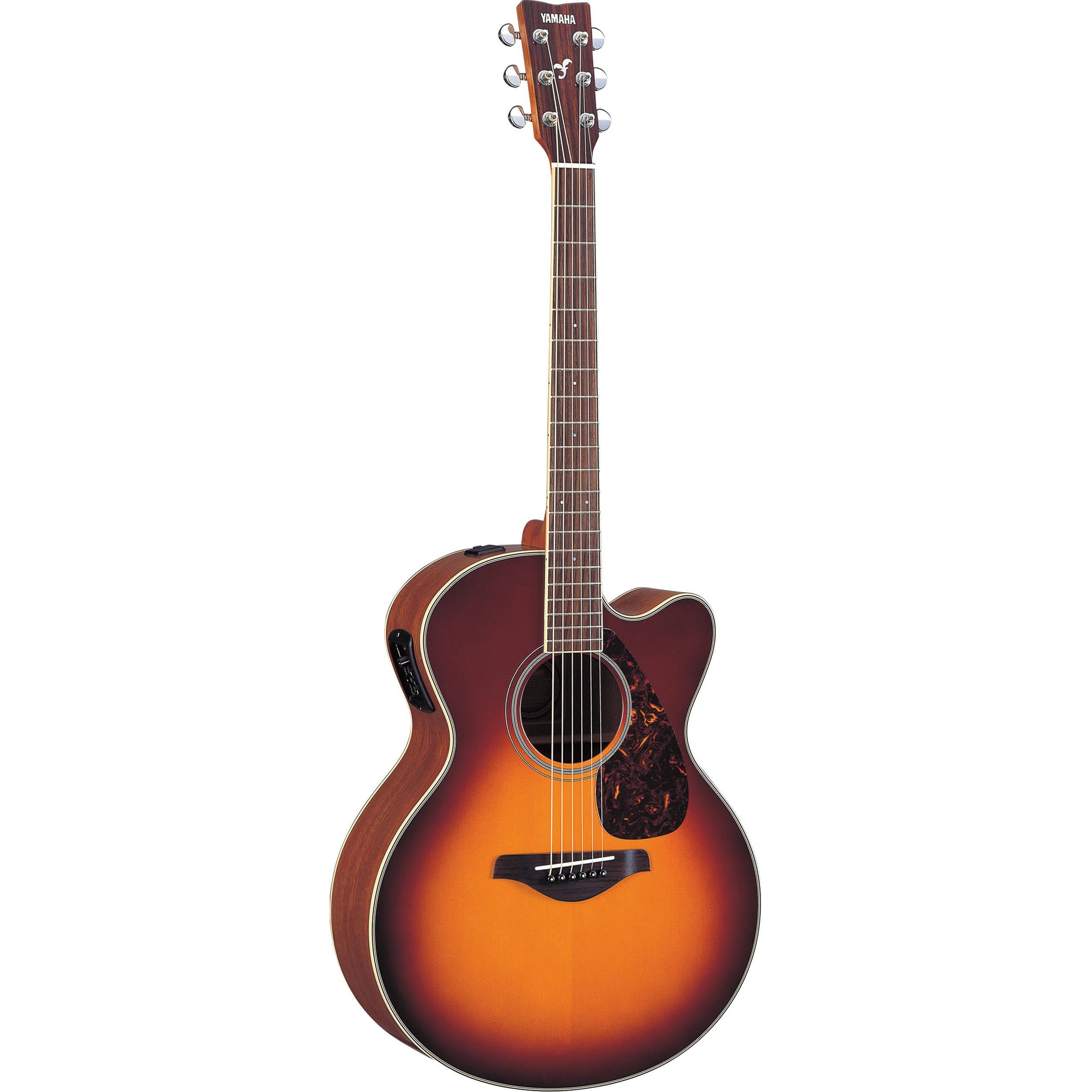 Yamaha Fjx720sc Medium Jumbo Acoustic Electric Fjx720sc Bs B Amp H