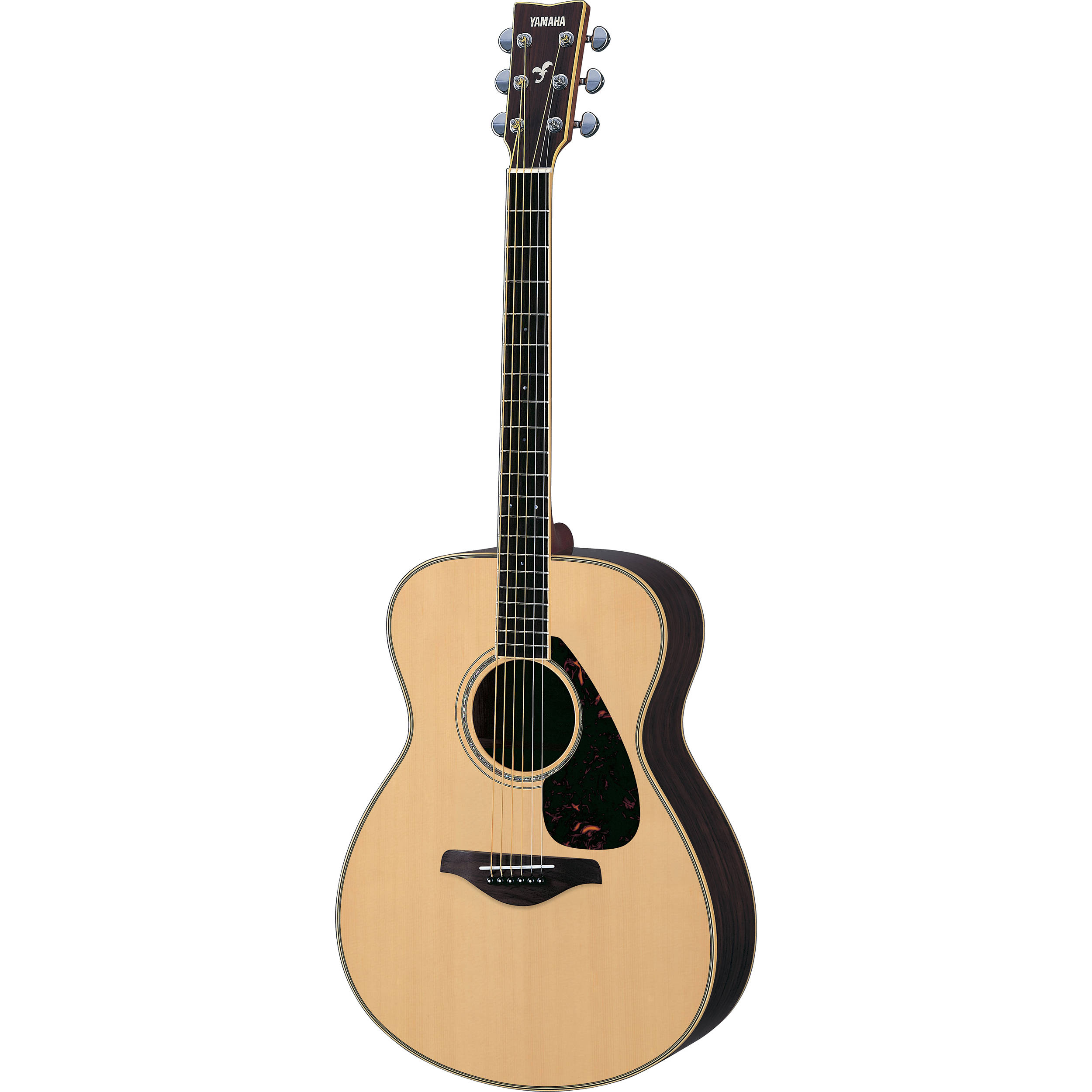 Yamaha fs730s solid top acoustic guitar natural fs730s b h for New yamaha acoustic guitars
