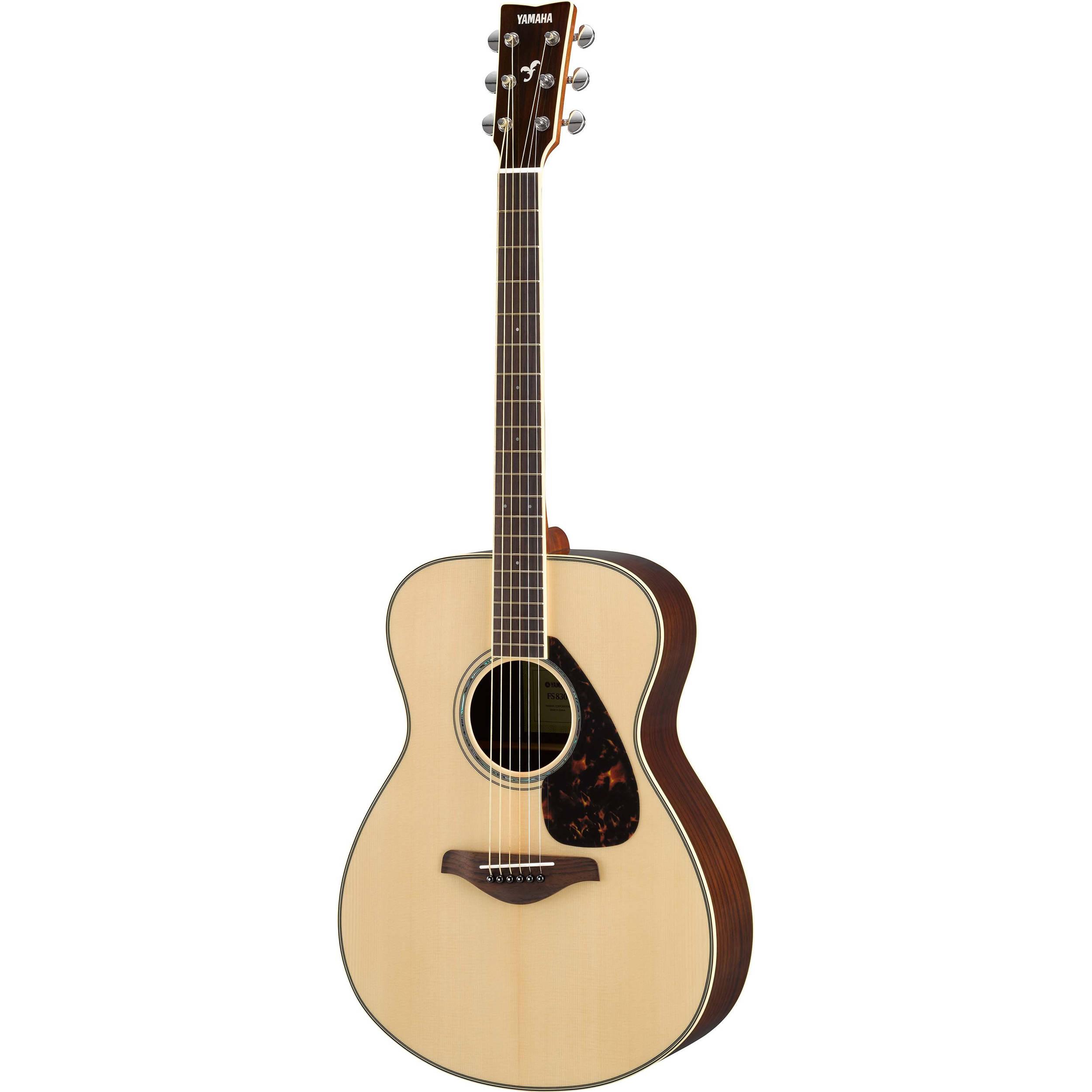 Yamaha fs830 fs series concert style acoustic guitar fs830 b h for Yamaha fs 310 guitar