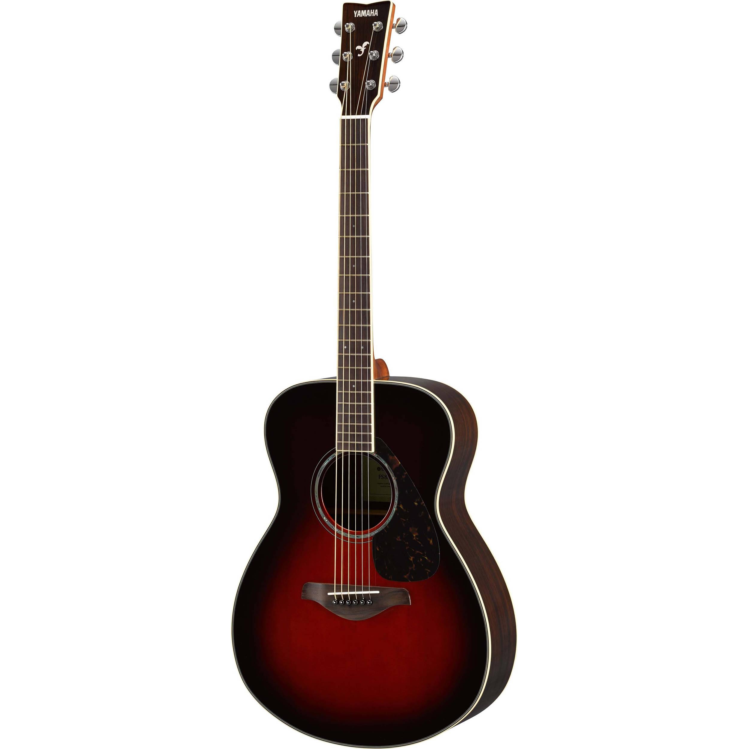 Yamaha fs830 fs series concert style acoustic guitar fs830 tbs for Yamaha series a