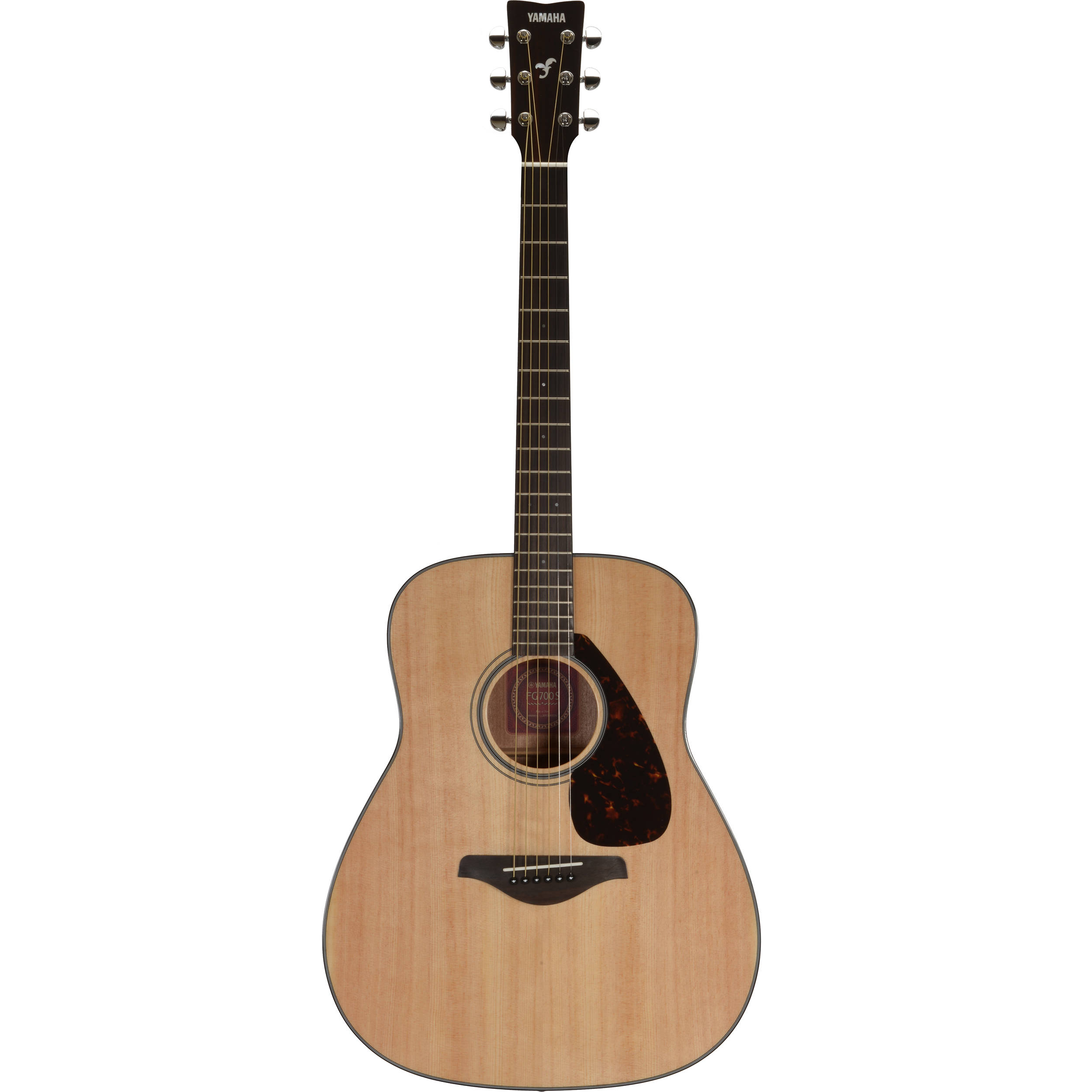 Yamaha fg700s solid top acoustic guitar natural fg700s b h for Yamaha solid top