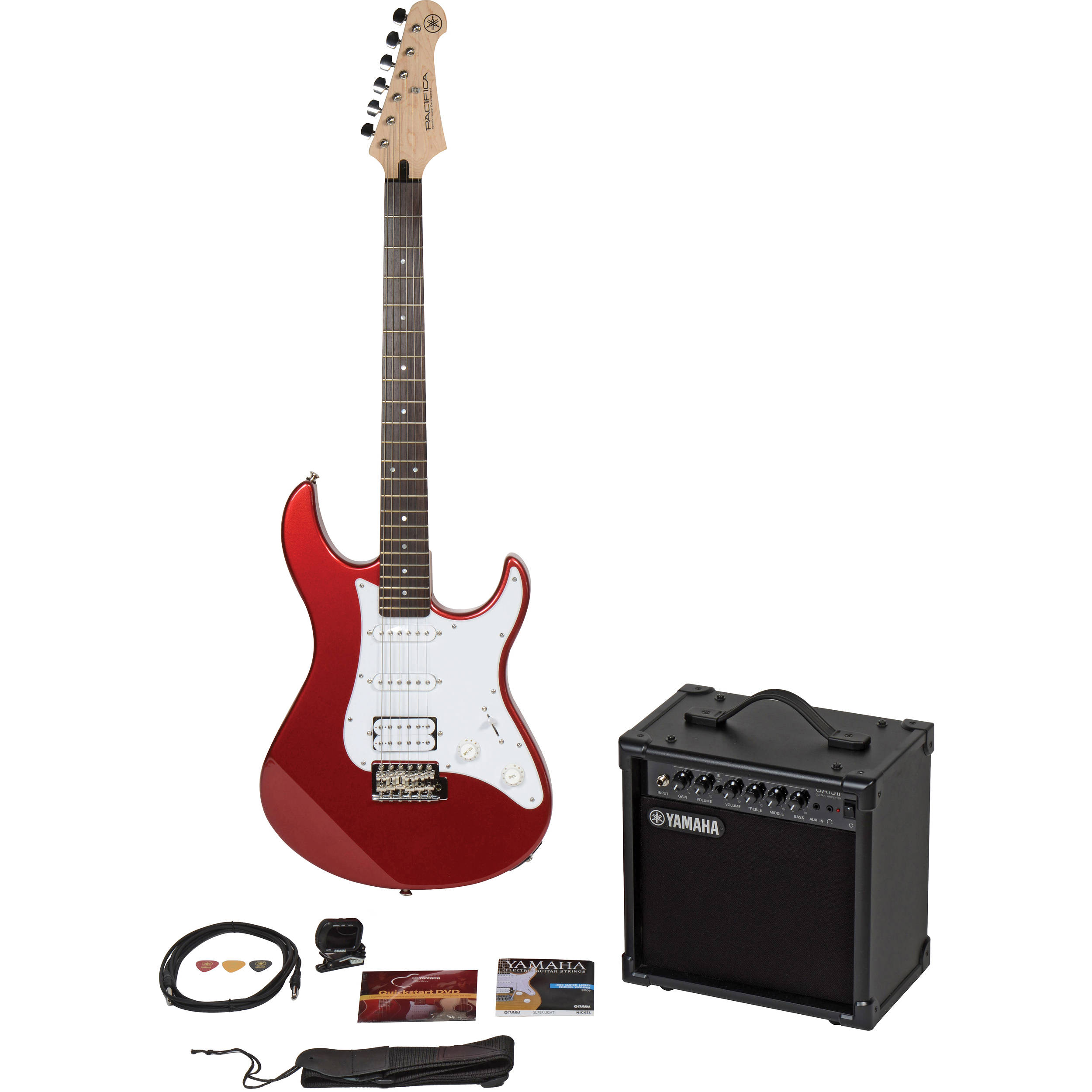yamaha gigmaker electric bundle pacifica gigmaker eg red b h