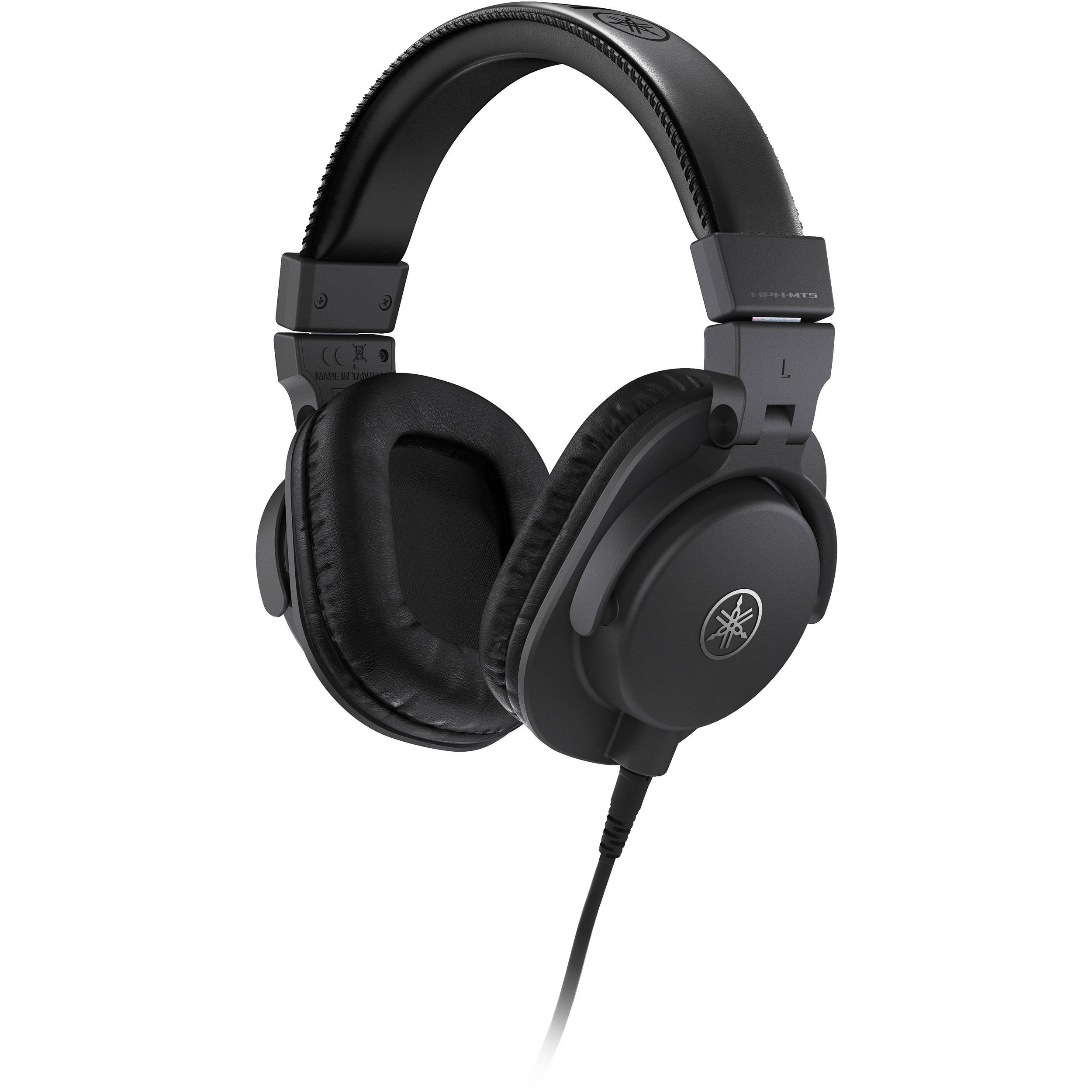 yamaha hph mt5 studio monitor headphones black hph mt5 b h. Black Bedroom Furniture Sets. Home Design Ideas