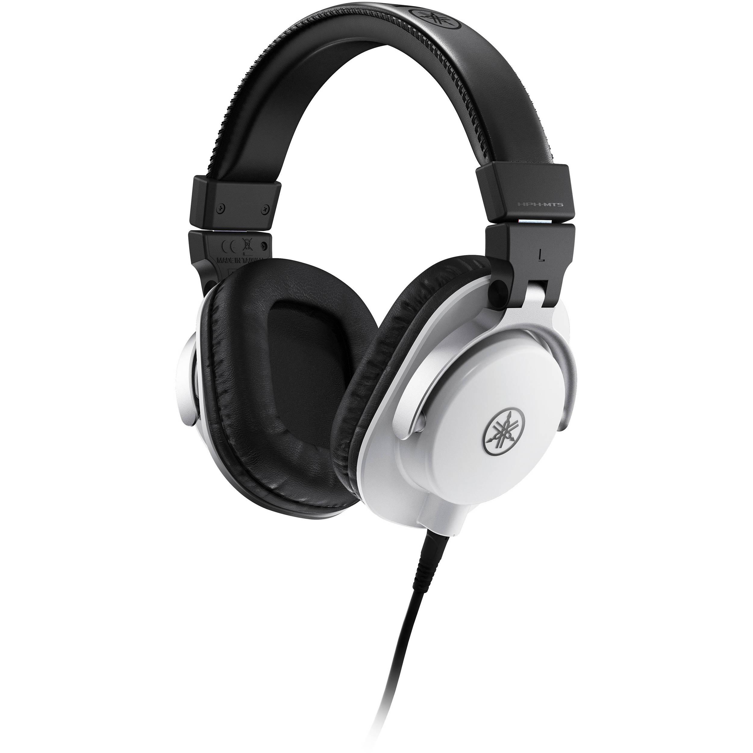 yamaha hph mt5w studio monitor headphones white hph mt5w b h. Black Bedroom Furniture Sets. Home Design Ideas