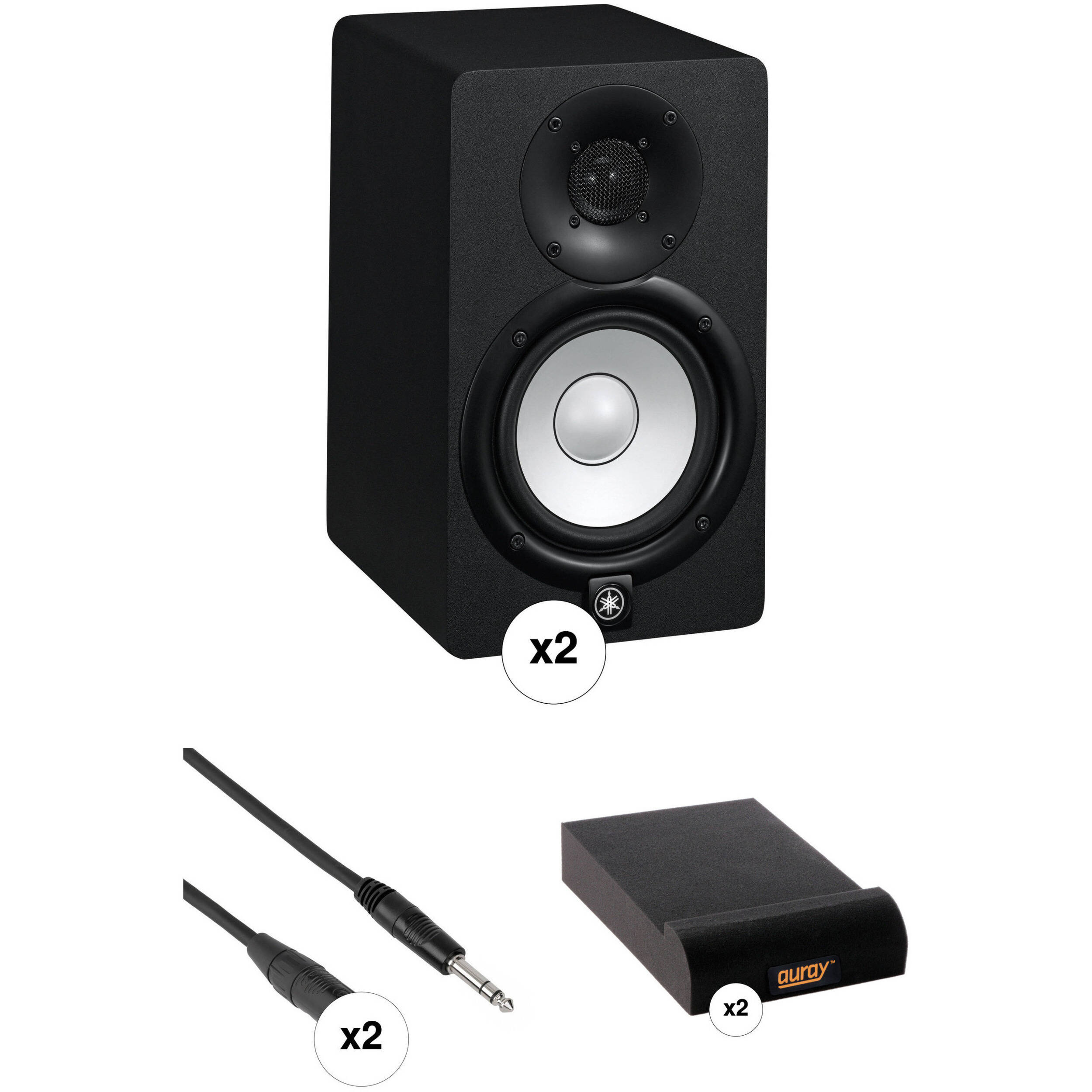 yamaha hs5 powered studio monitors with monitor controller and. Black Bedroom Furniture Sets. Home Design Ideas