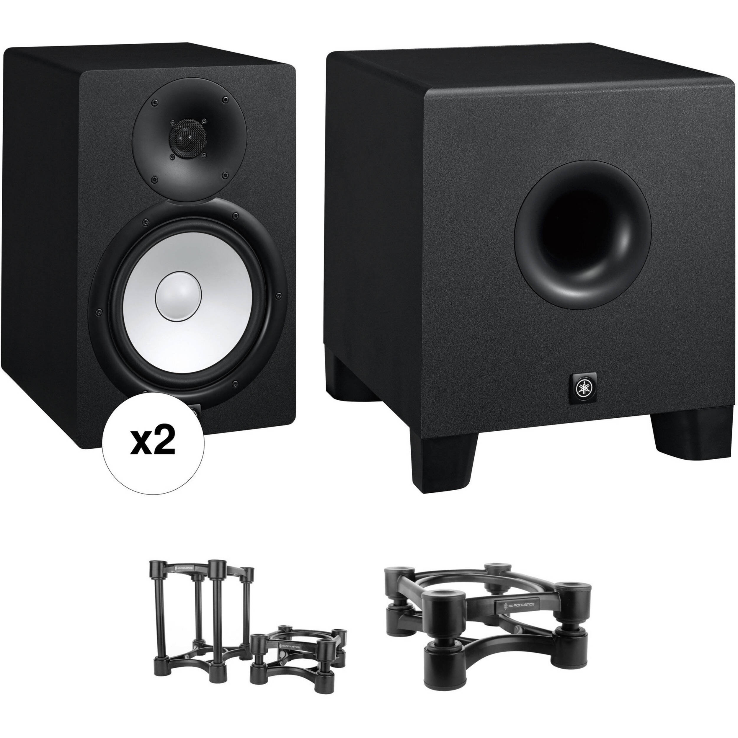 yamaha hs8 powered studio monitors and hs8s subwoofer b h photo. Black Bedroom Furniture Sets. Home Design Ideas