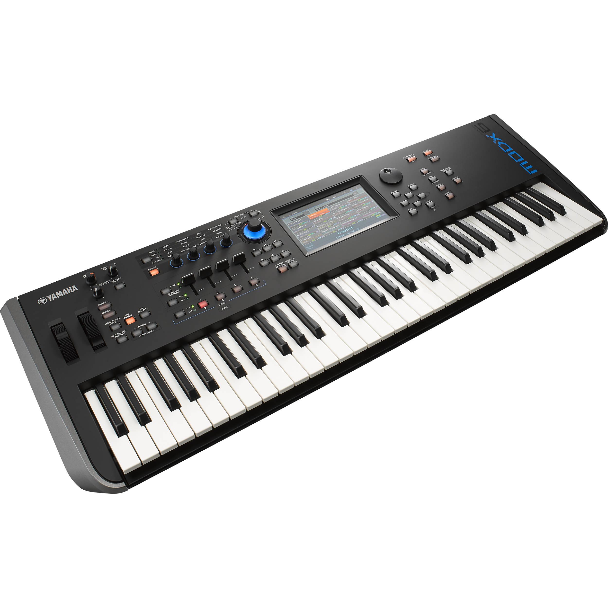 Yamaha Modx6 61 Key Synthesizer Modx6 B Amp H Photo Video