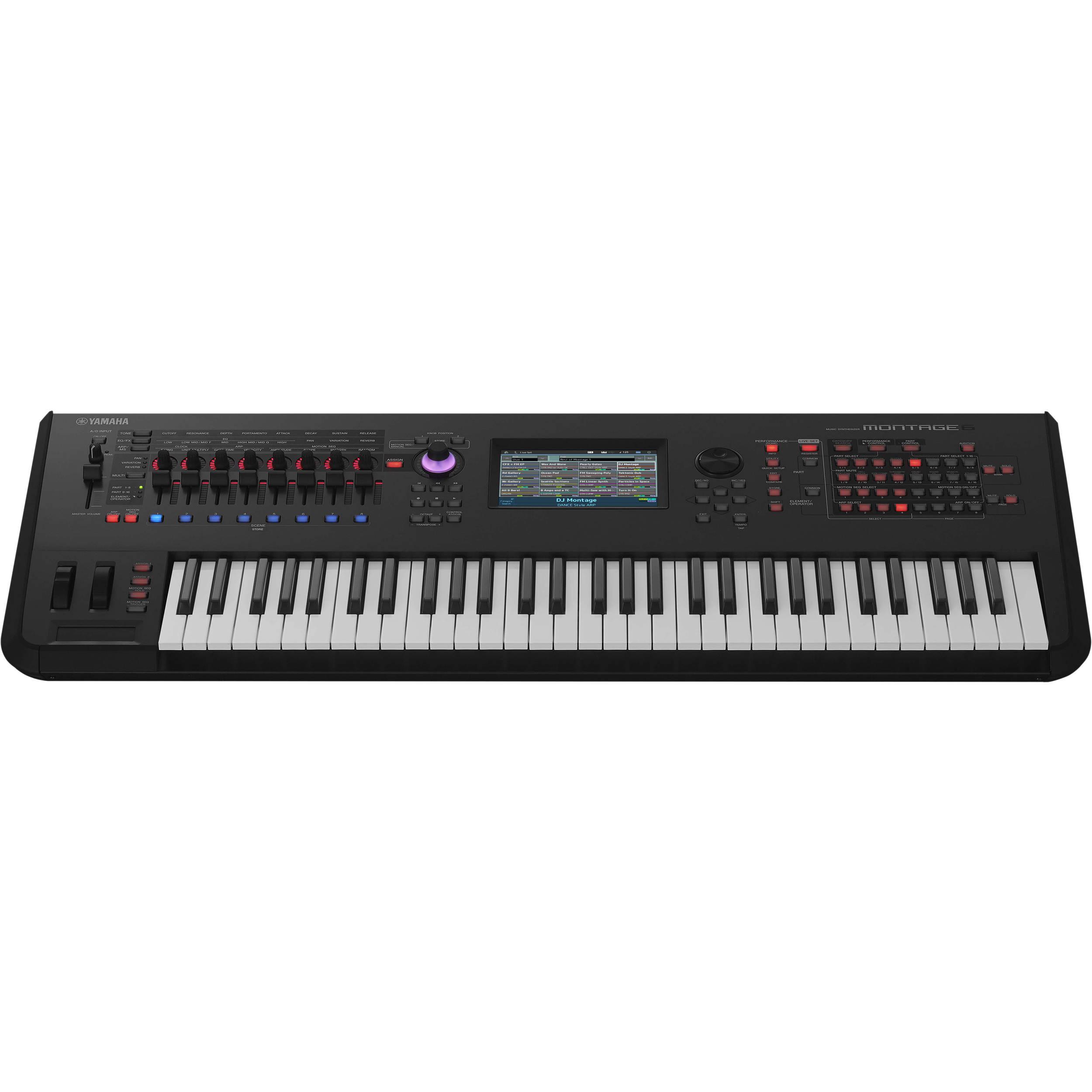 Yamaha montage 6 61 key workstation synthesizer montage6 b h for Yamaha keyboard synthesizer