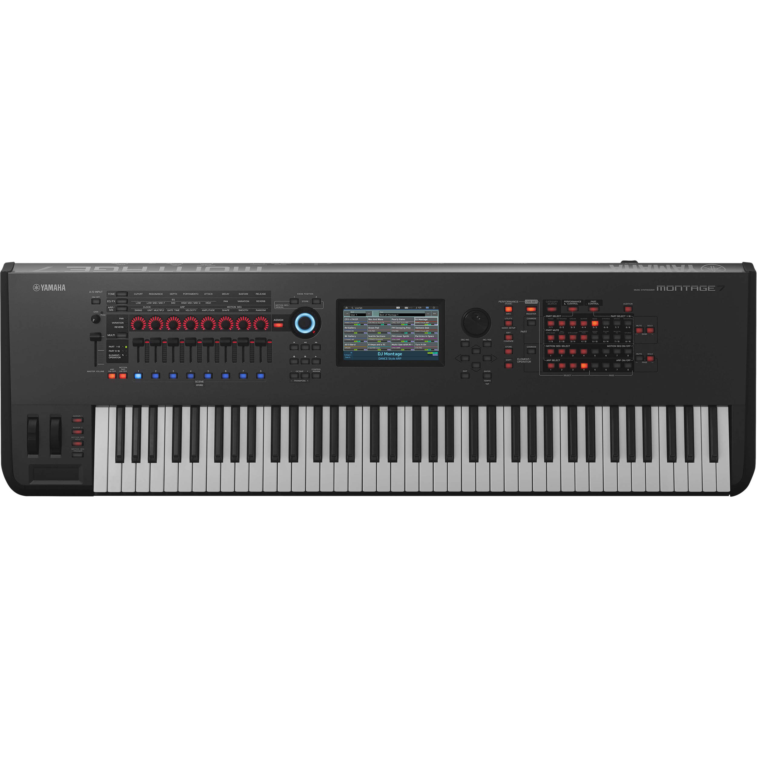 yamaha montage 7 76 key workstation synthesizer montage7 b h. Black Bedroom Furniture Sets. Home Design Ideas