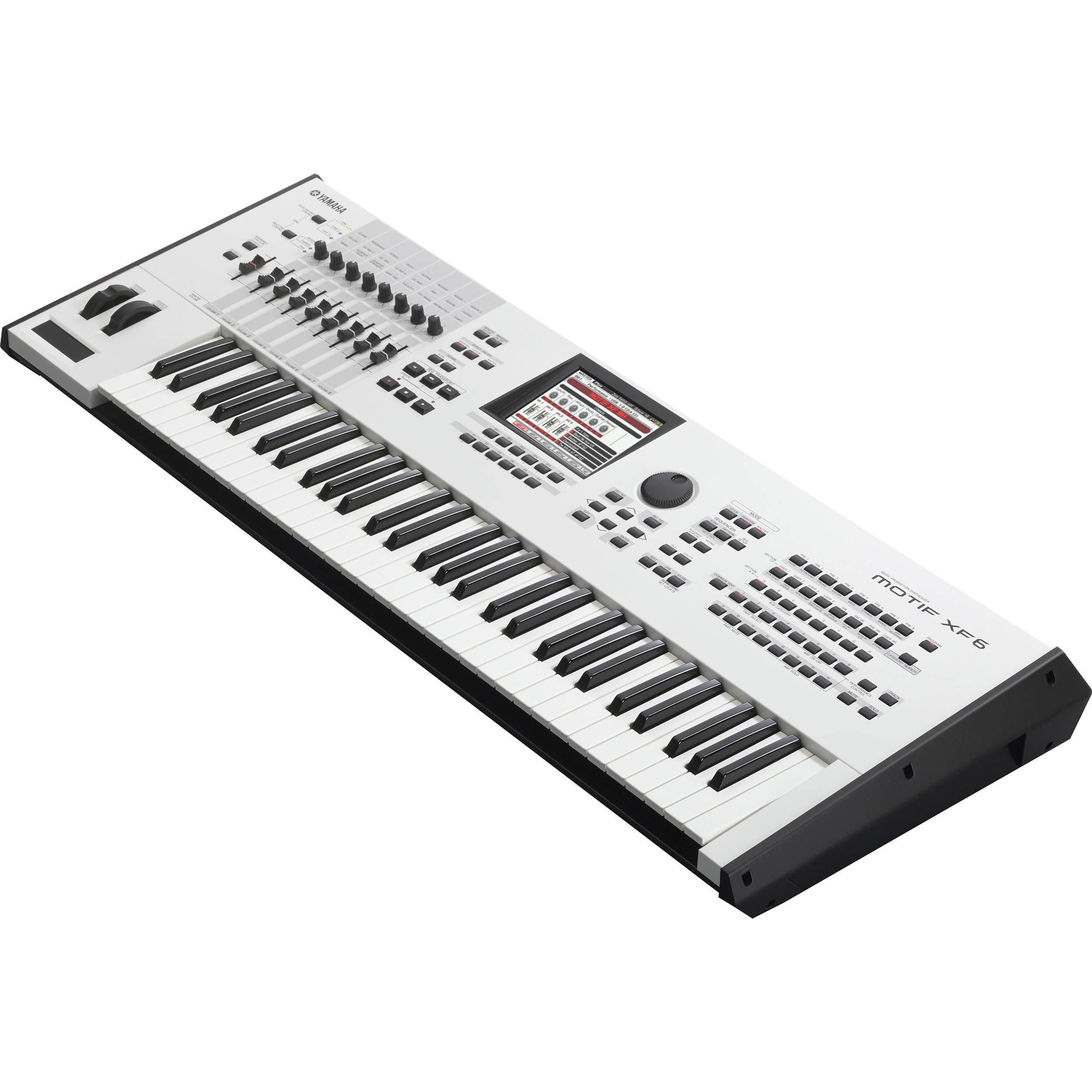 yamaha motif xf6 wh workstation keyboard motifxf6 wh b h photo. Black Bedroom Furniture Sets. Home Design Ideas