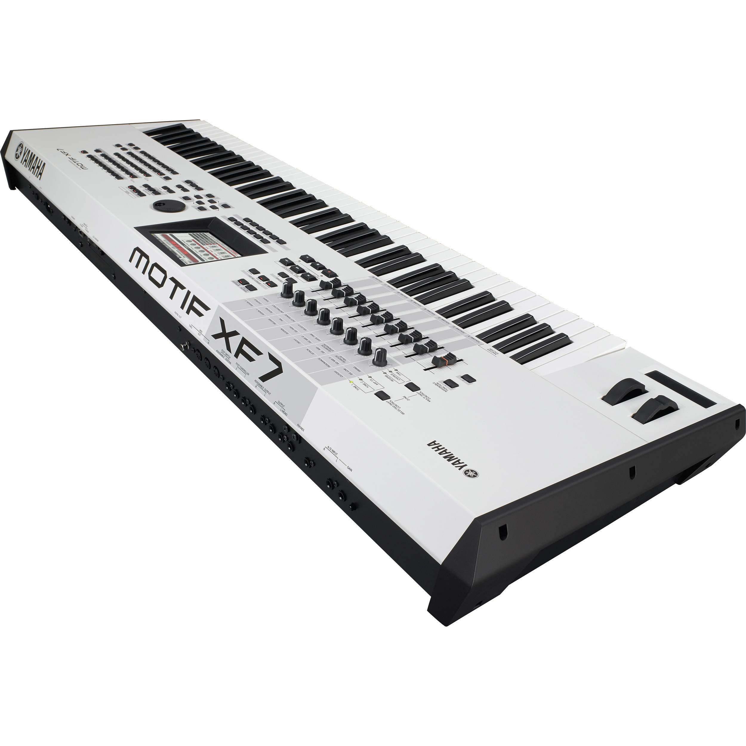 Yamaha motif xf7 wh workstation keyboard motifxf7 wh b h for Yamaha warranty registration