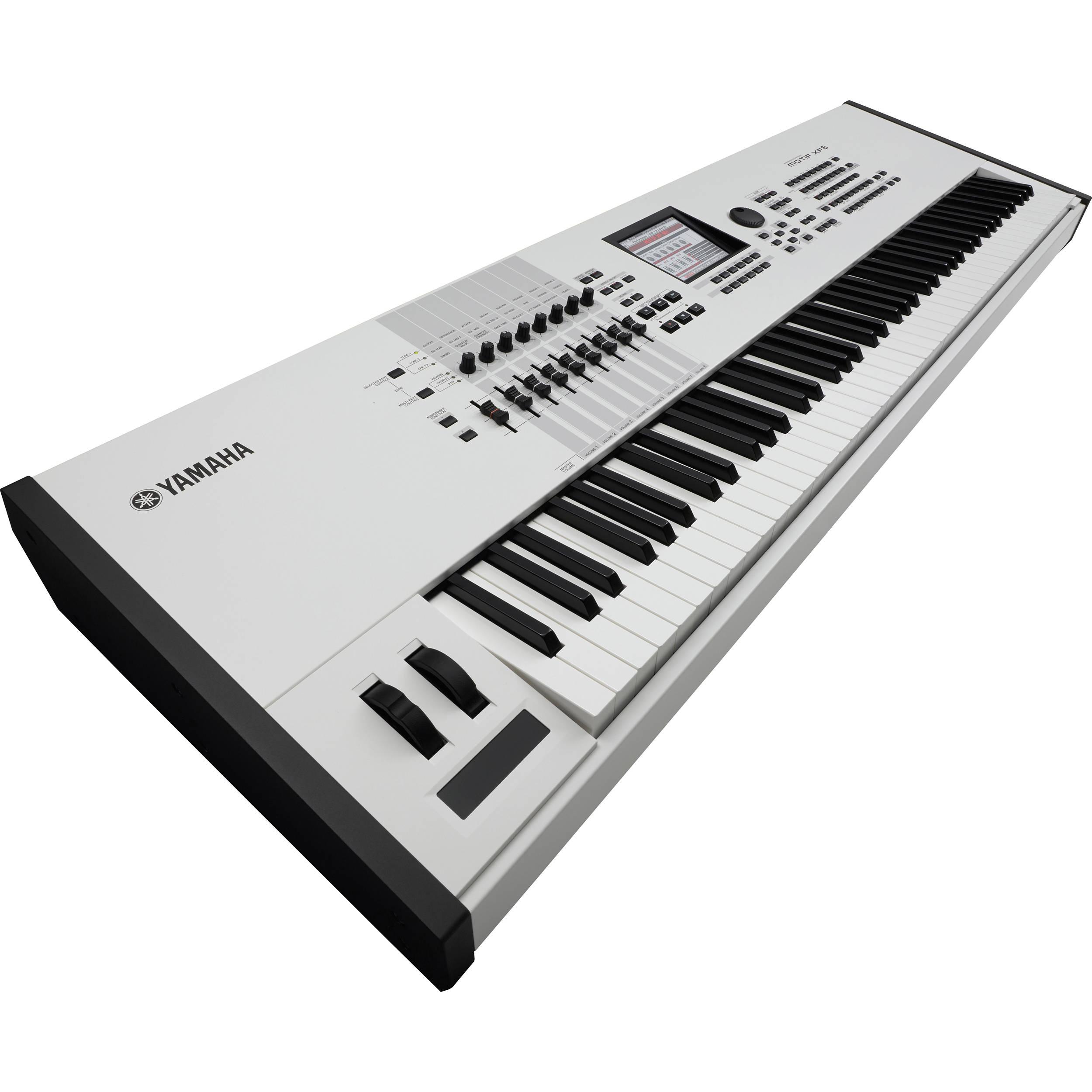 yamaha motif xf8 wh workstation keyboard motifxf8 wh b h