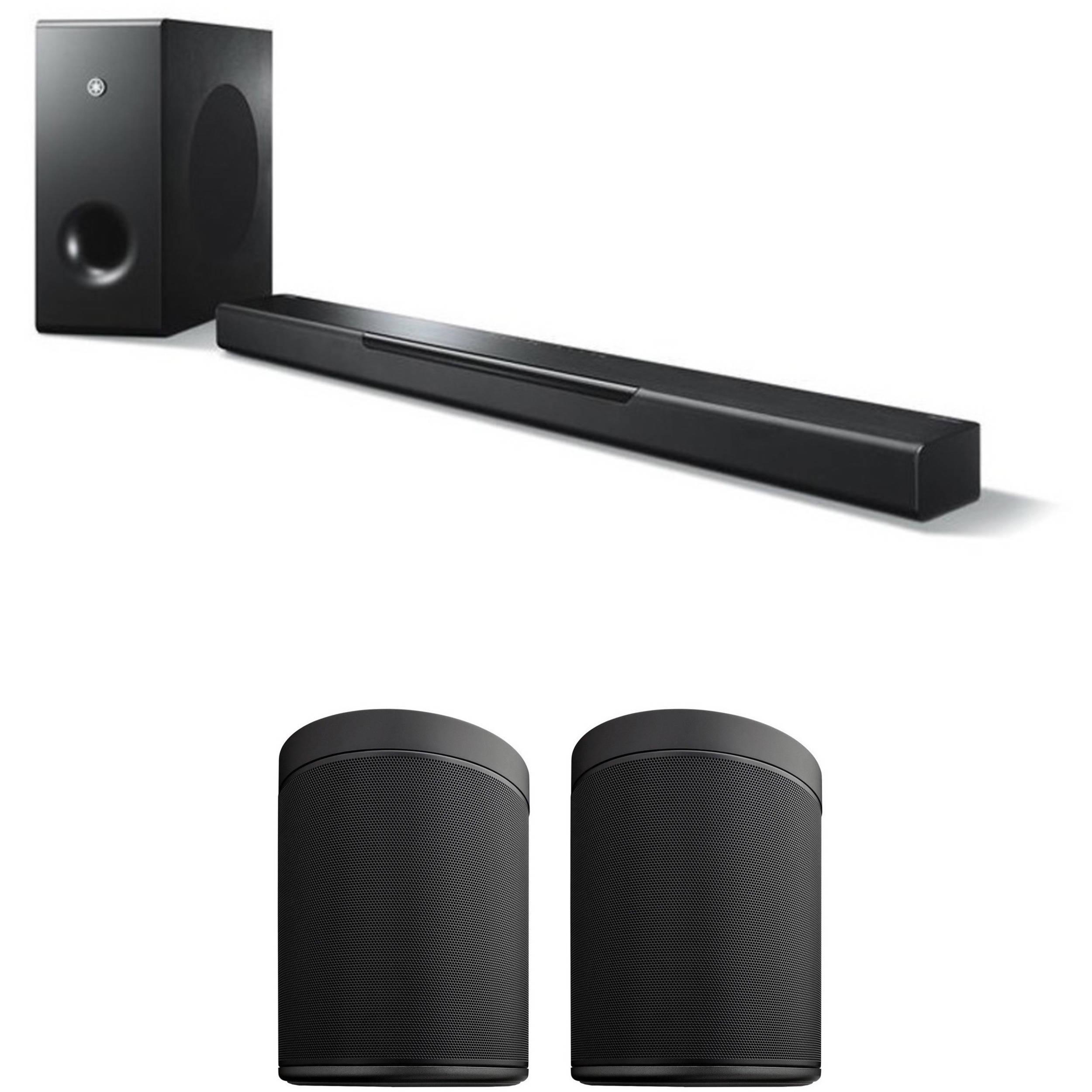 yamaha musiccast bar 400 soundbar system and musiccast 20 b h. Black Bedroom Furniture Sets. Home Design Ideas