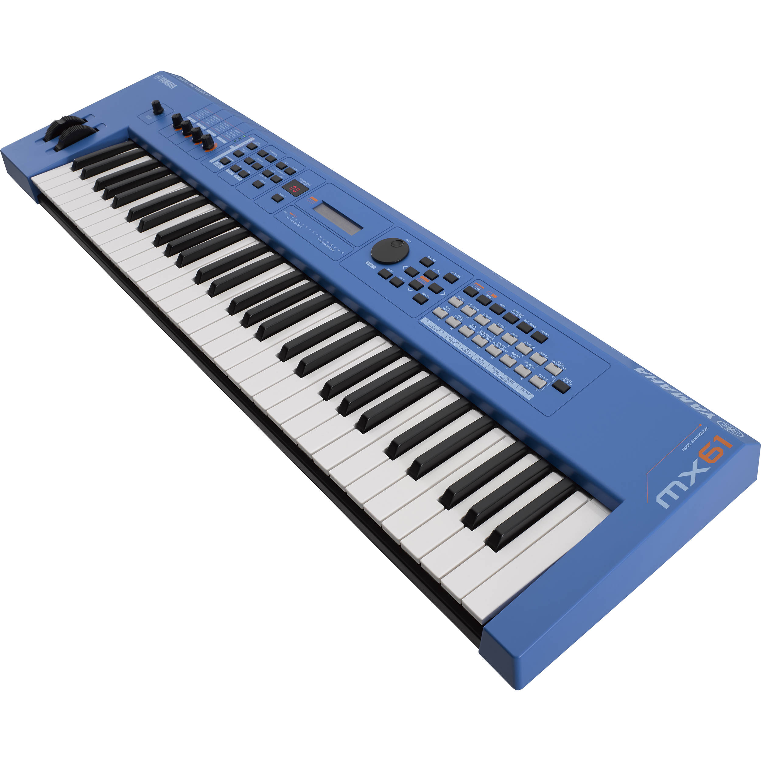 yamaha mx61 v2 music production synthesizer blue mx61bu b h