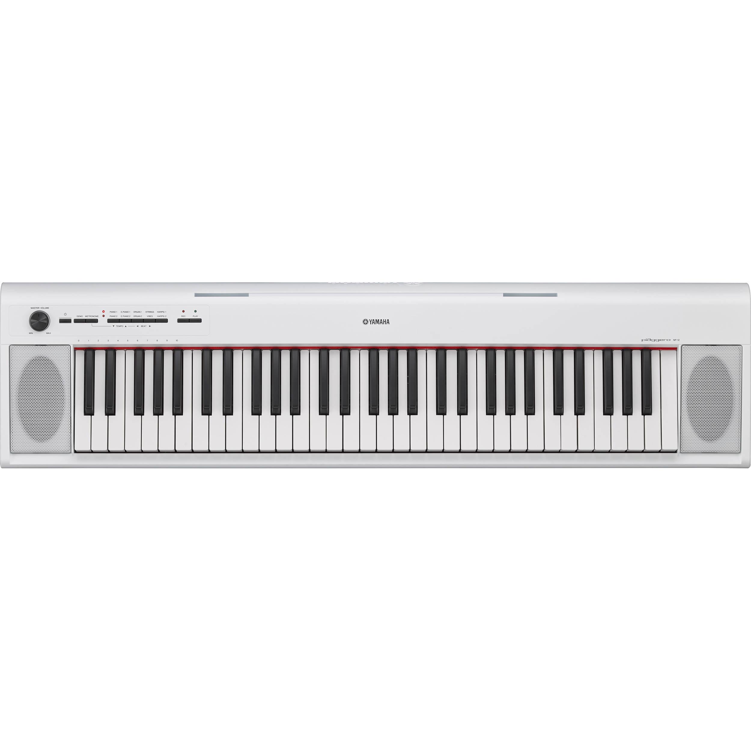 yamaha np 12 piaggero portable piano style keyboard np12wh b h. Black Bedroom Furniture Sets. Home Design Ideas