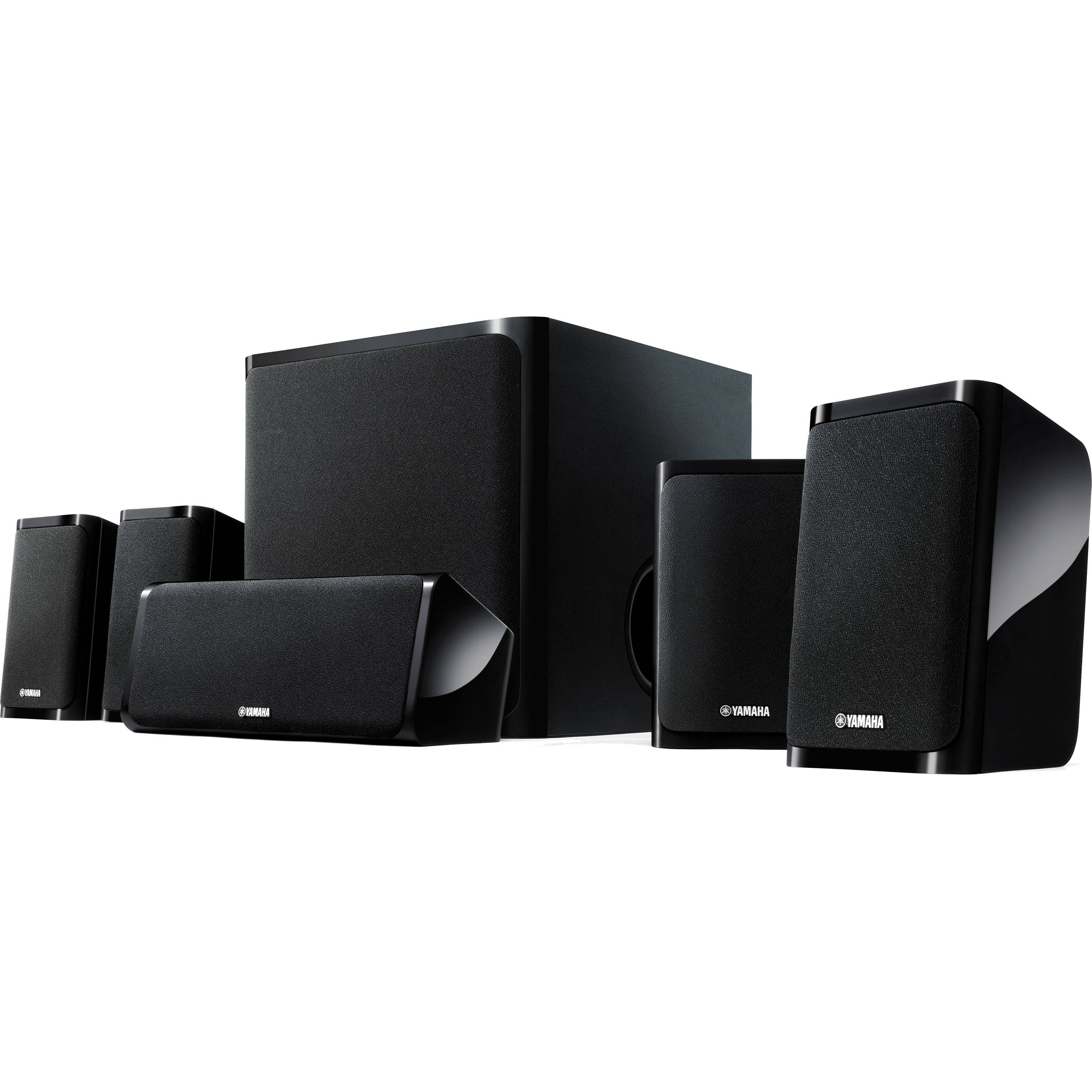 yamaha ns p40 5 1 channel speaker system ns p40bl b h photo. Black Bedroom Furniture Sets. Home Design Ideas