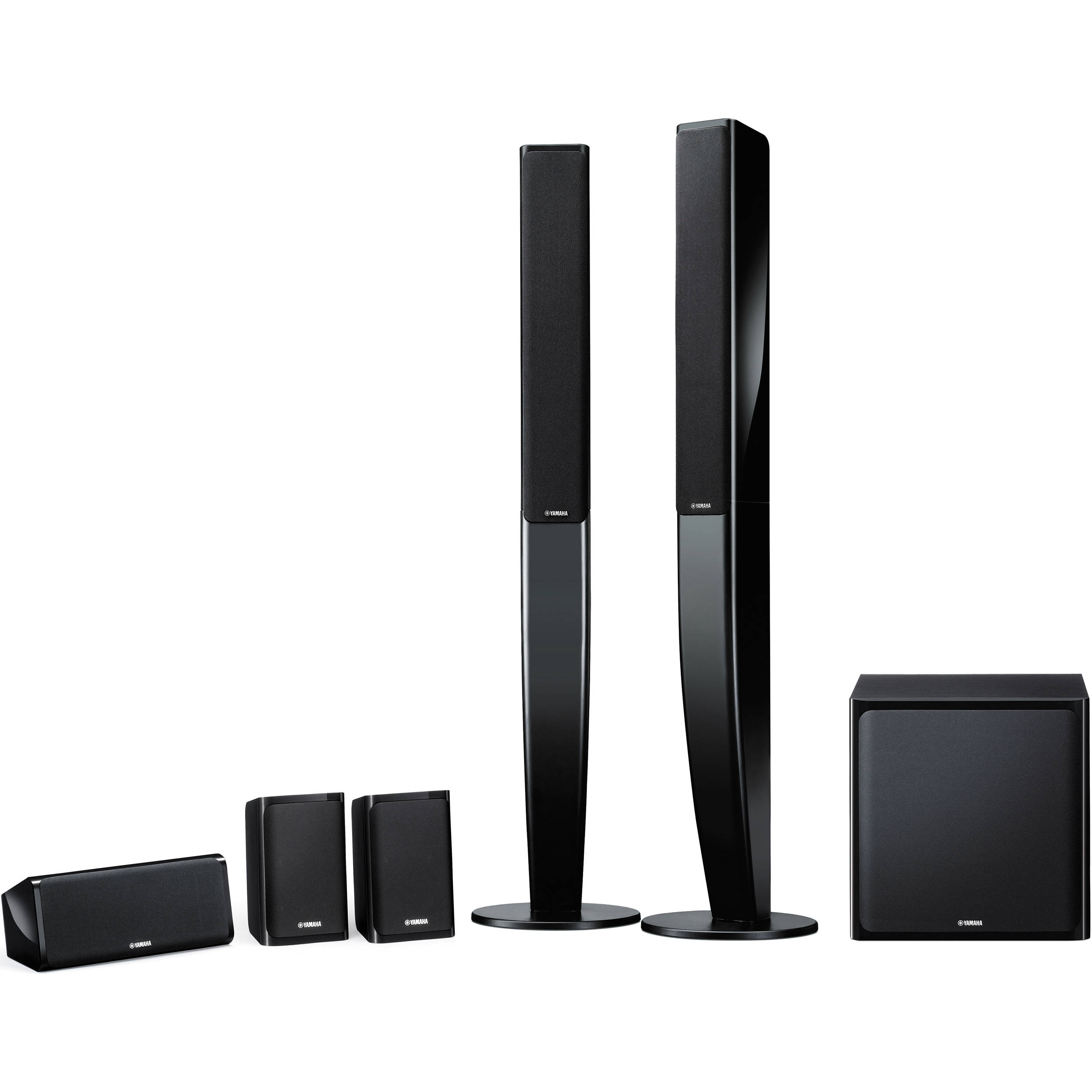 Yamaha ns pa40 5 1 channel speaker system black ns for Yamaha speakers system