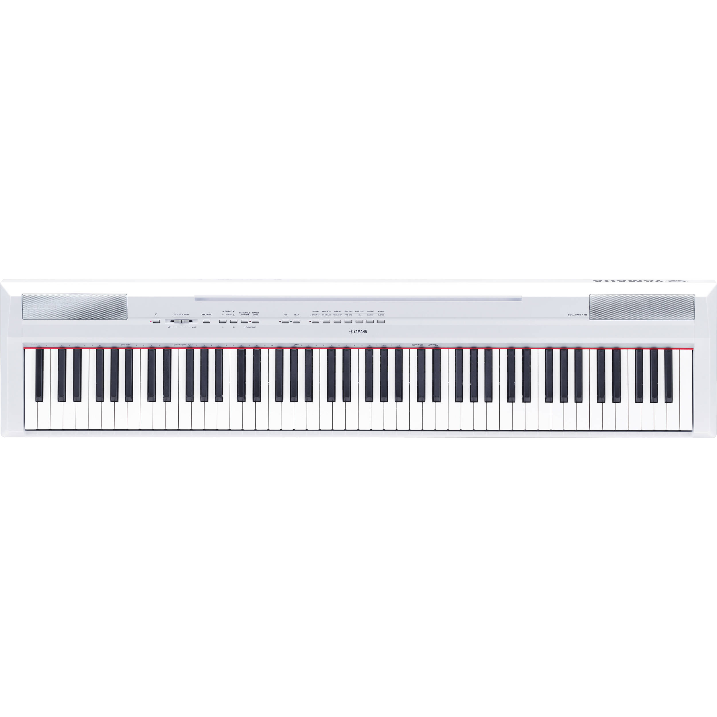 yamaha p 115 88 key digital piano with graded hammer p115wh