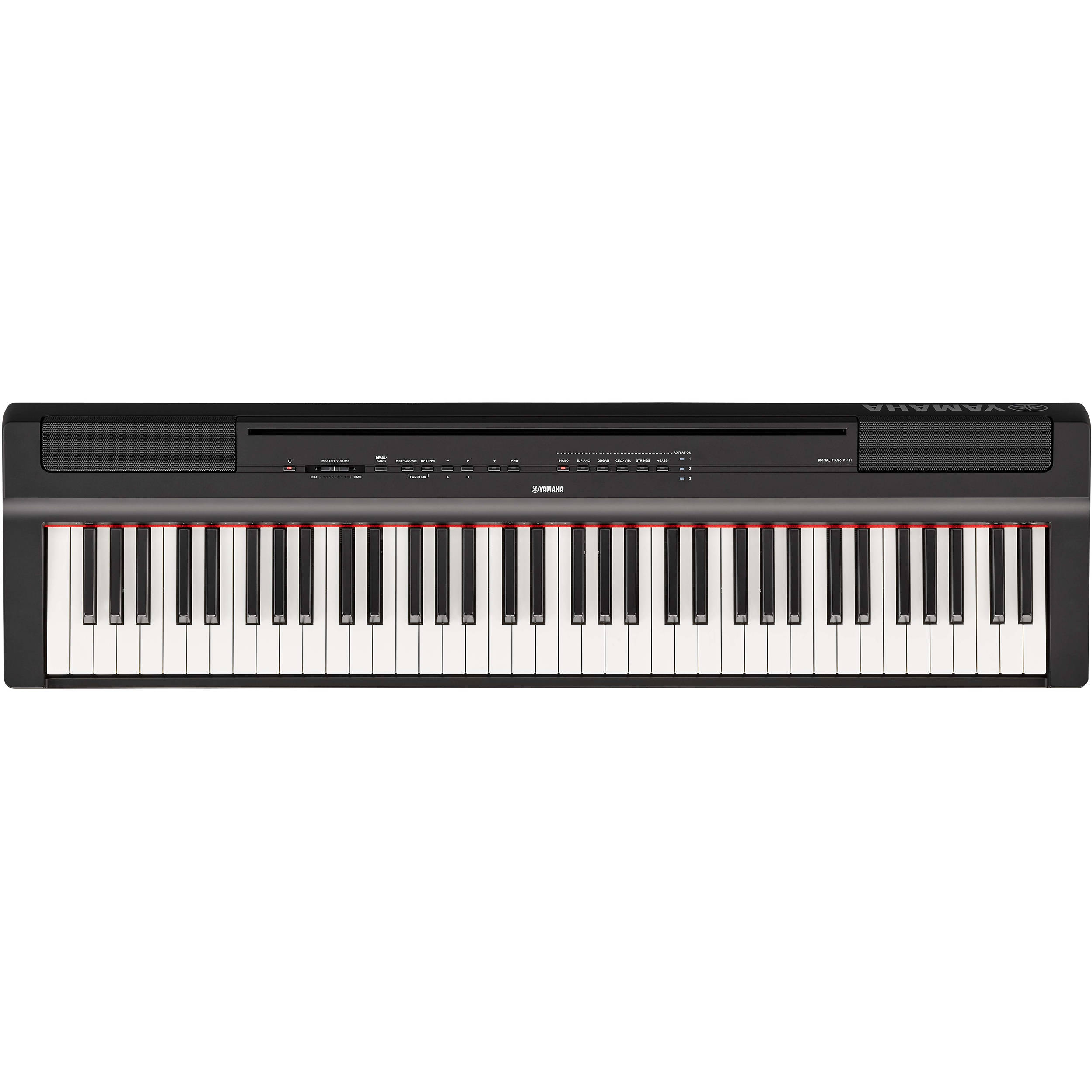 yamaha p 121 73 key digital piano black p121b b h photo video. Black Bedroom Furniture Sets. Home Design Ideas