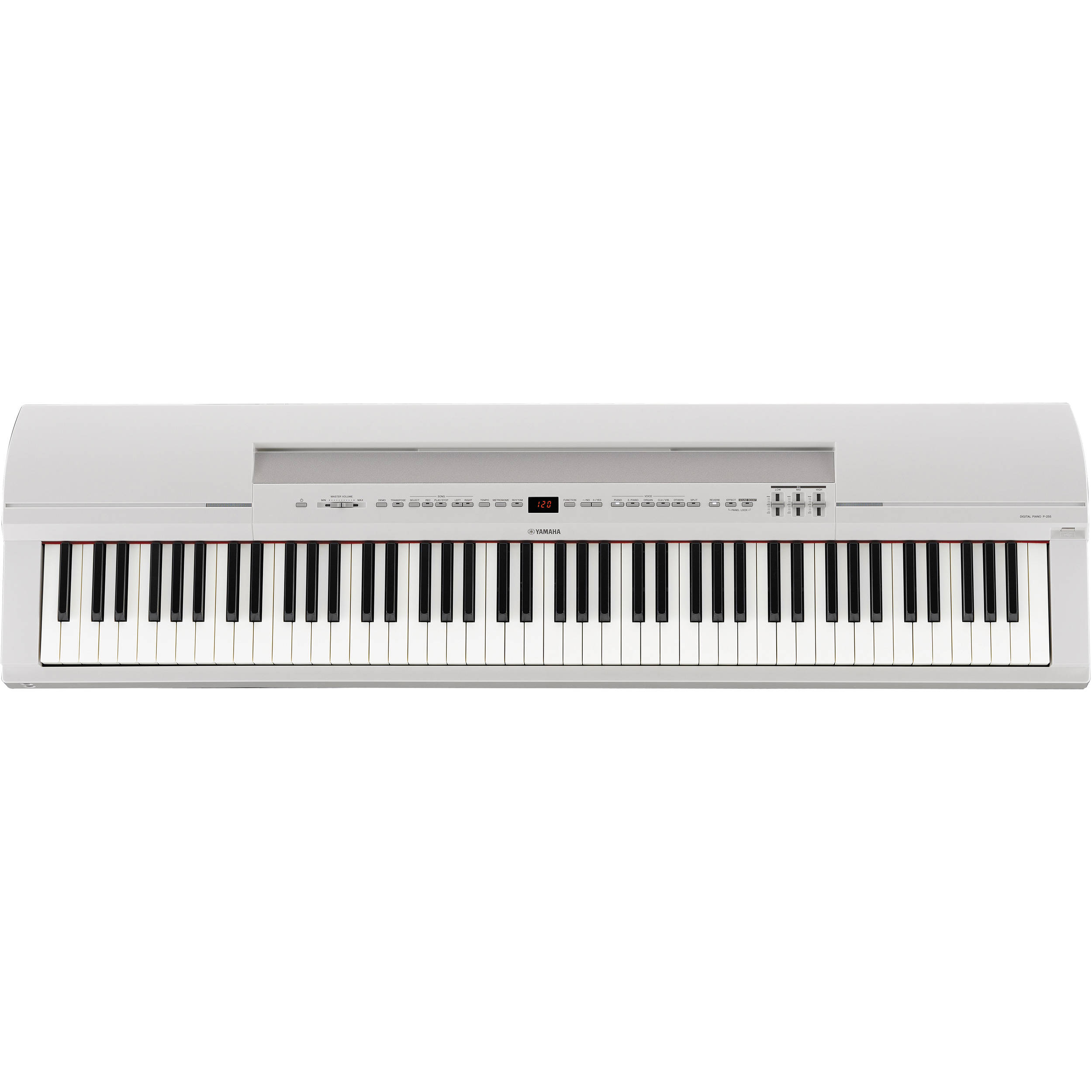 yamaha p 255wh digital piano white p255wh b h photo video. Black Bedroom Furniture Sets. Home Design Ideas