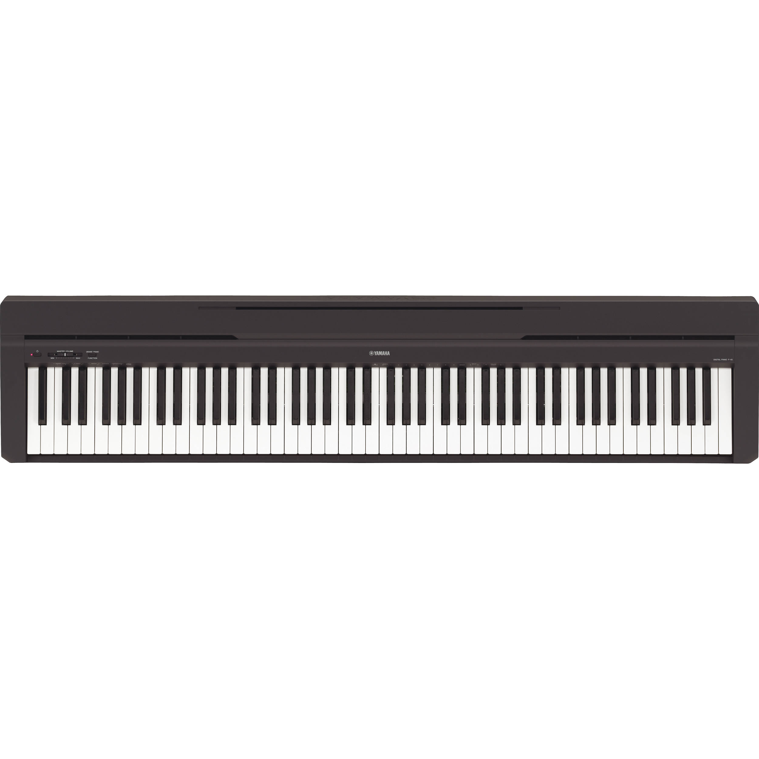 yamaha p 45 compact 88 key portable digital piano p45b b h. Black Bedroom Furniture Sets. Home Design Ideas