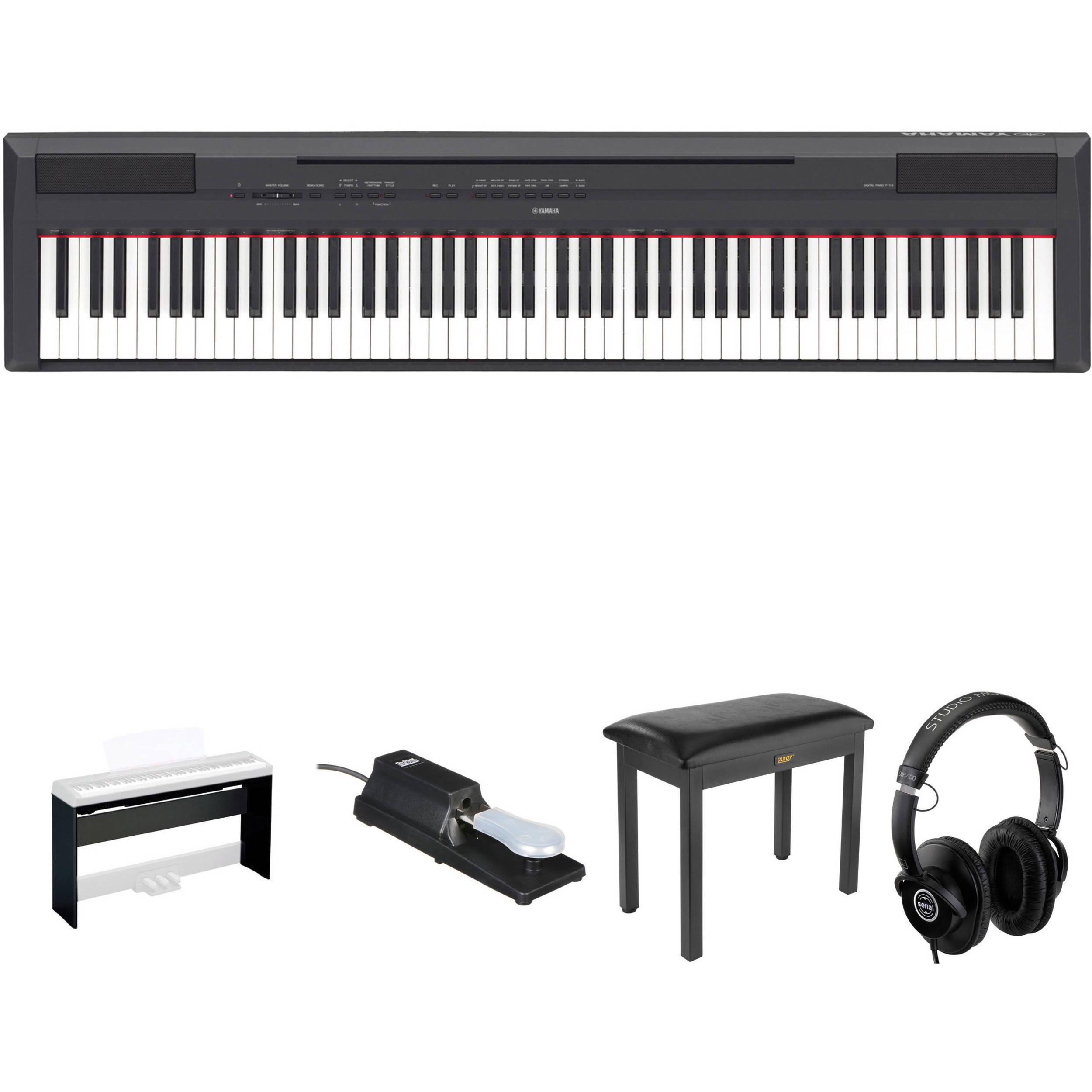 yamaha 88 key digital piano. yamaha p-115 88-key digital piano kit with stand, pedal, bench 88 key