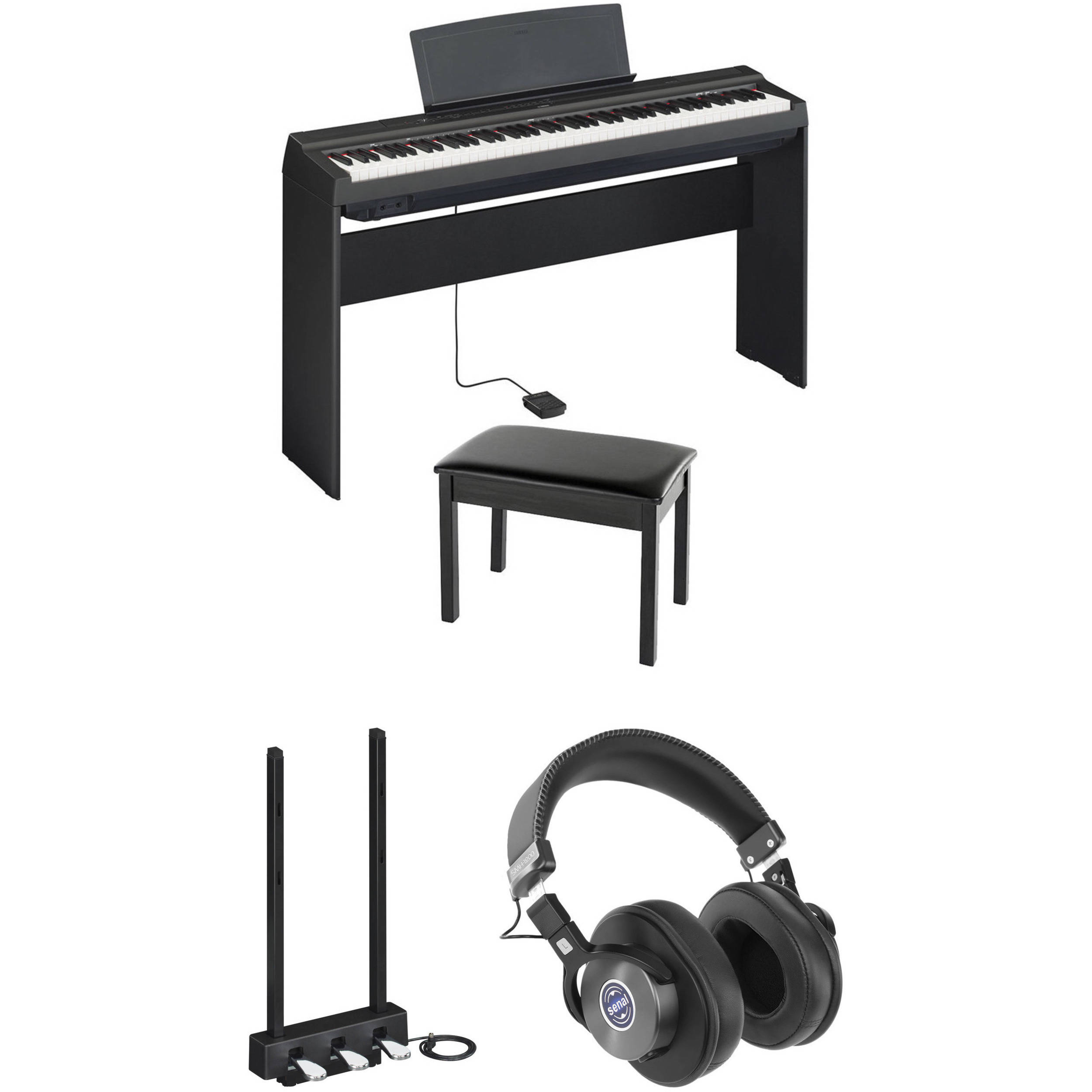 Wondrous Yamaha P 125 Digital Piano Performance And Monitoring Kit Black Gmtry Best Dining Table And Chair Ideas Images Gmtryco