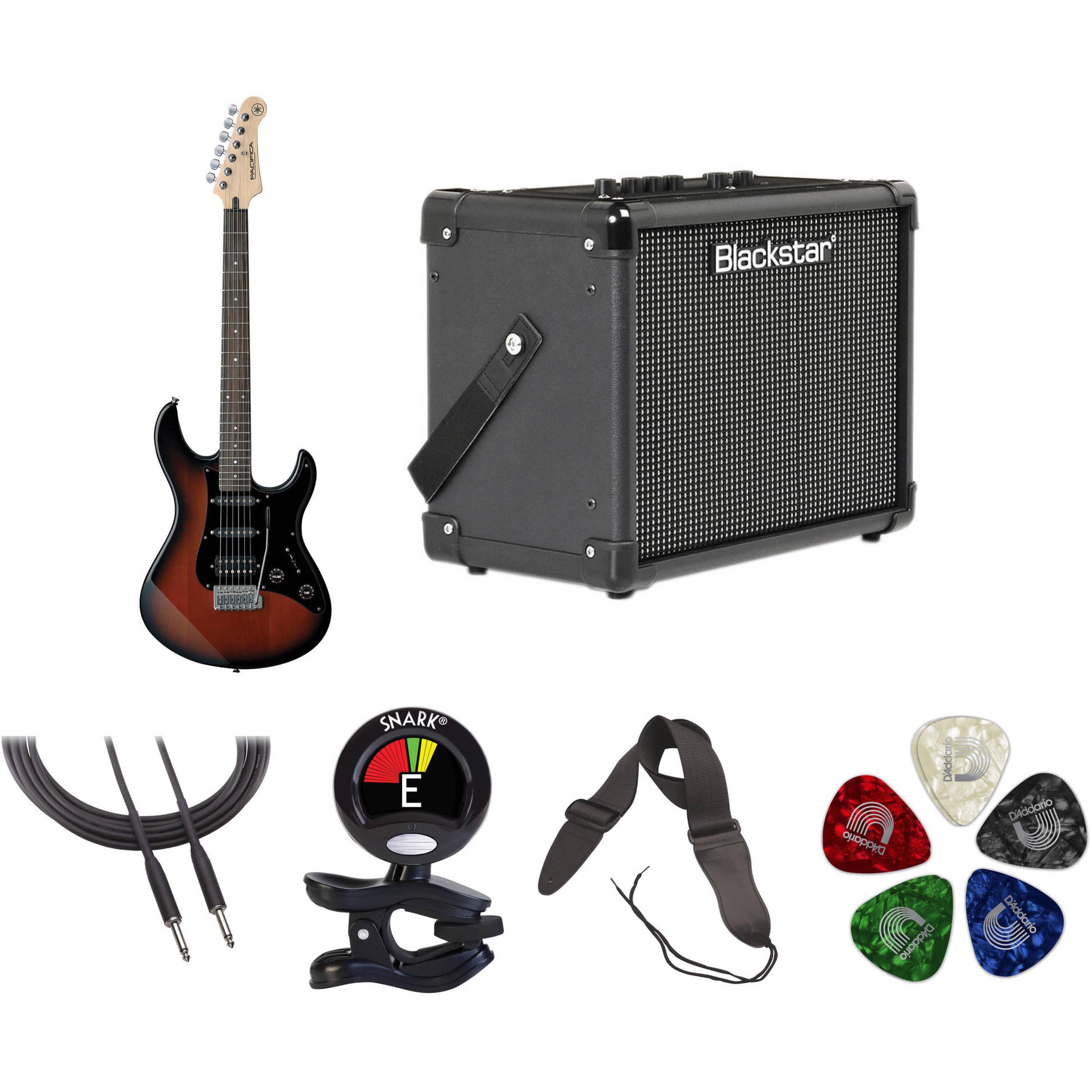 Yamaha Electric Motor Kit: Yamaha Pacifica PAC012DLX Electric Guitar Starter Kit B&H
