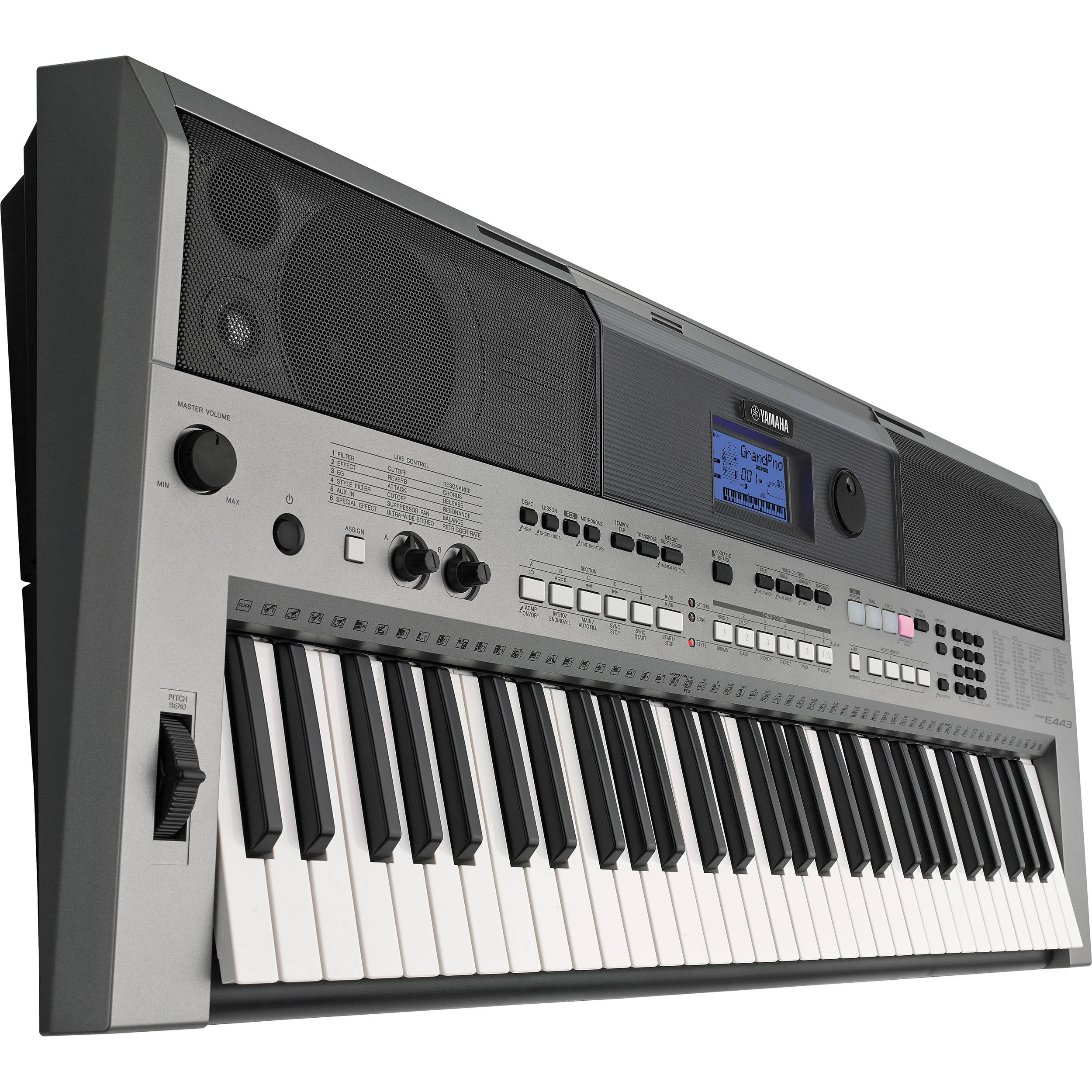 Yamaha Psr E443 : yamaha psr e443 61 key portable keyboard psre443 b h photo video ~ Vivirlamusica.com Haus und Dekorationen
