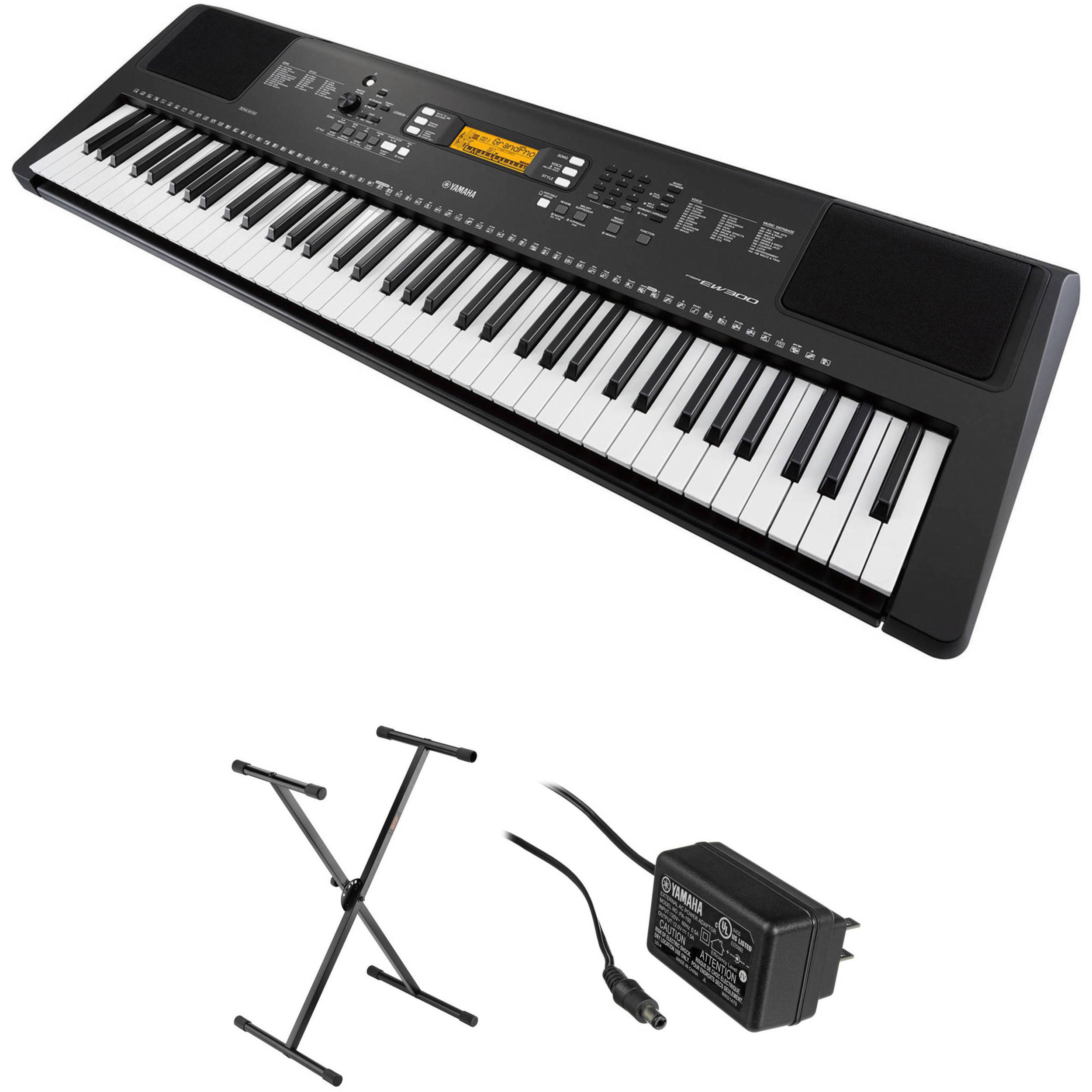 yamaha psr ew300 76 key portable keyboard kit with stand and ac rh bhphotovideo com Clip Art User Guide Example User Guide