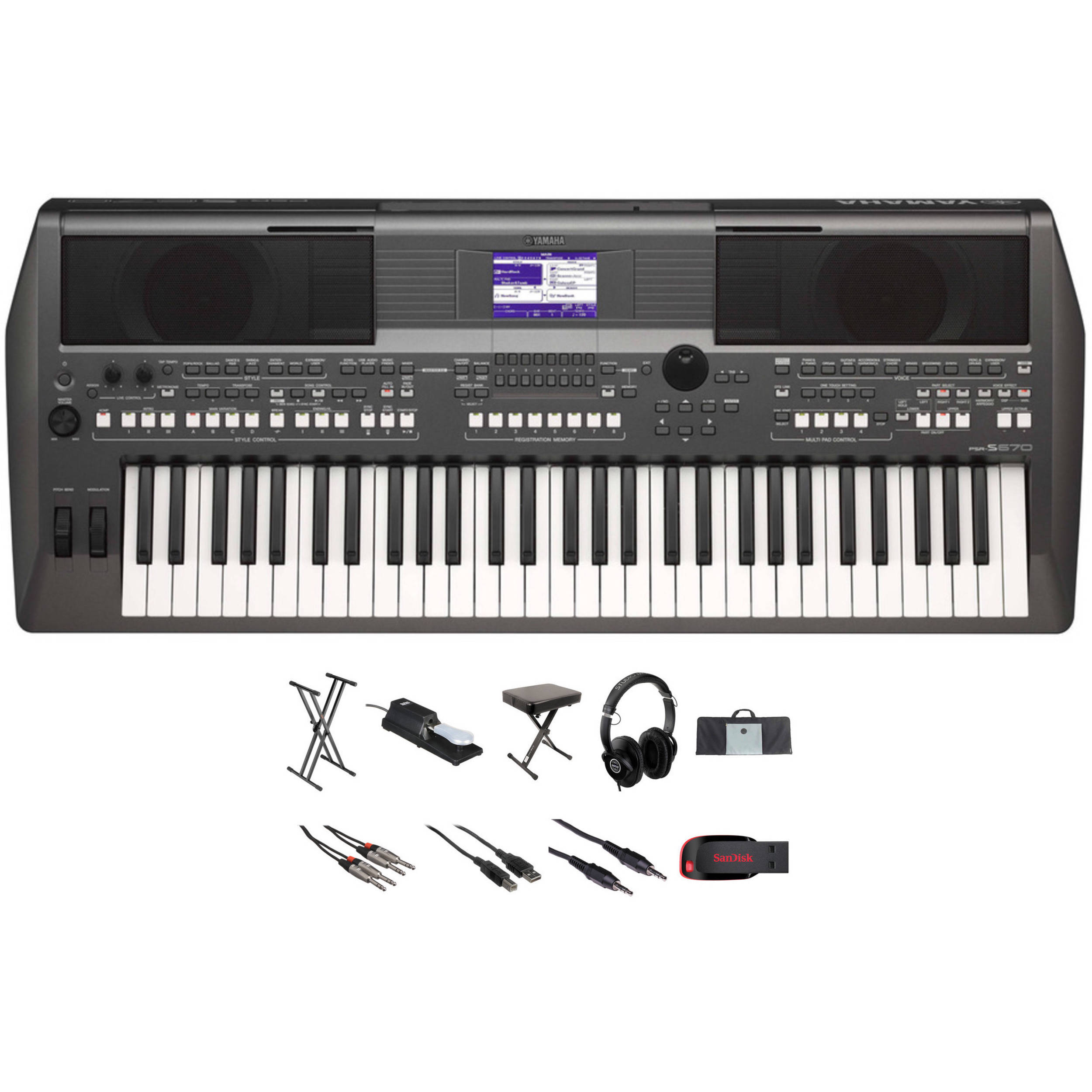 Yamaha PSR S670 61 Key Arranger Workstation And Value