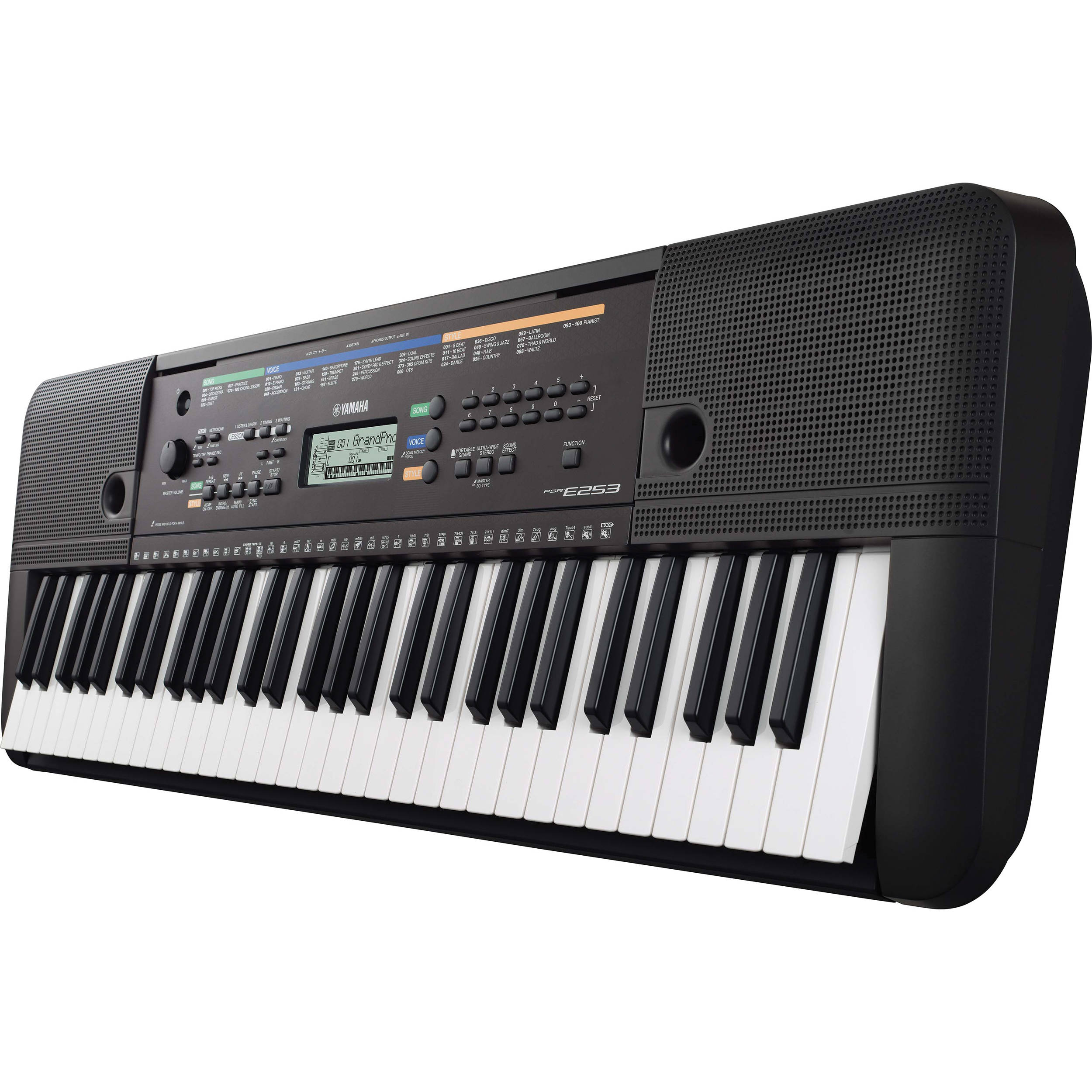 Yamaha psr e253 portable keyboard no power adapter psre253 for Yamaha professional keyboard price