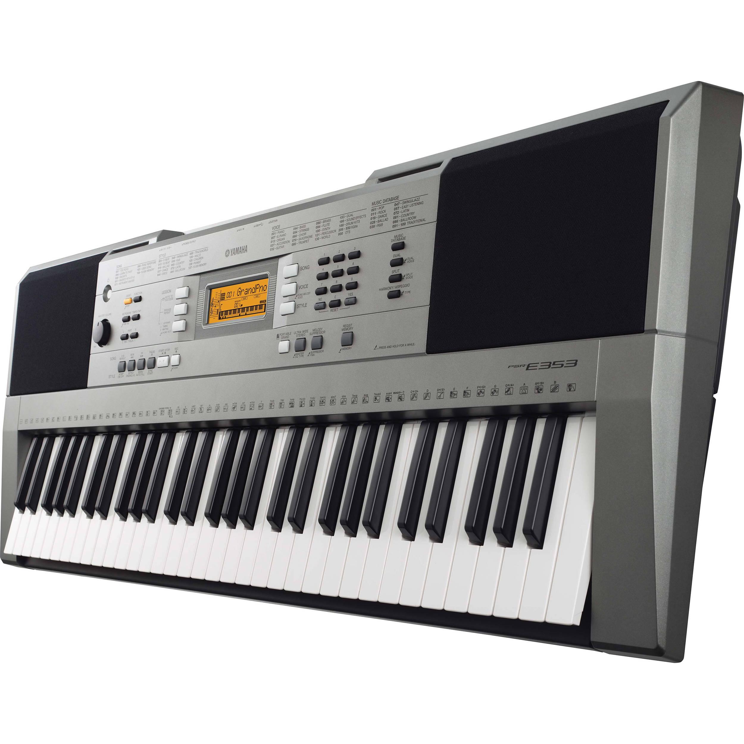 yamaha psr e353 portable keyboard no power adapter psre353