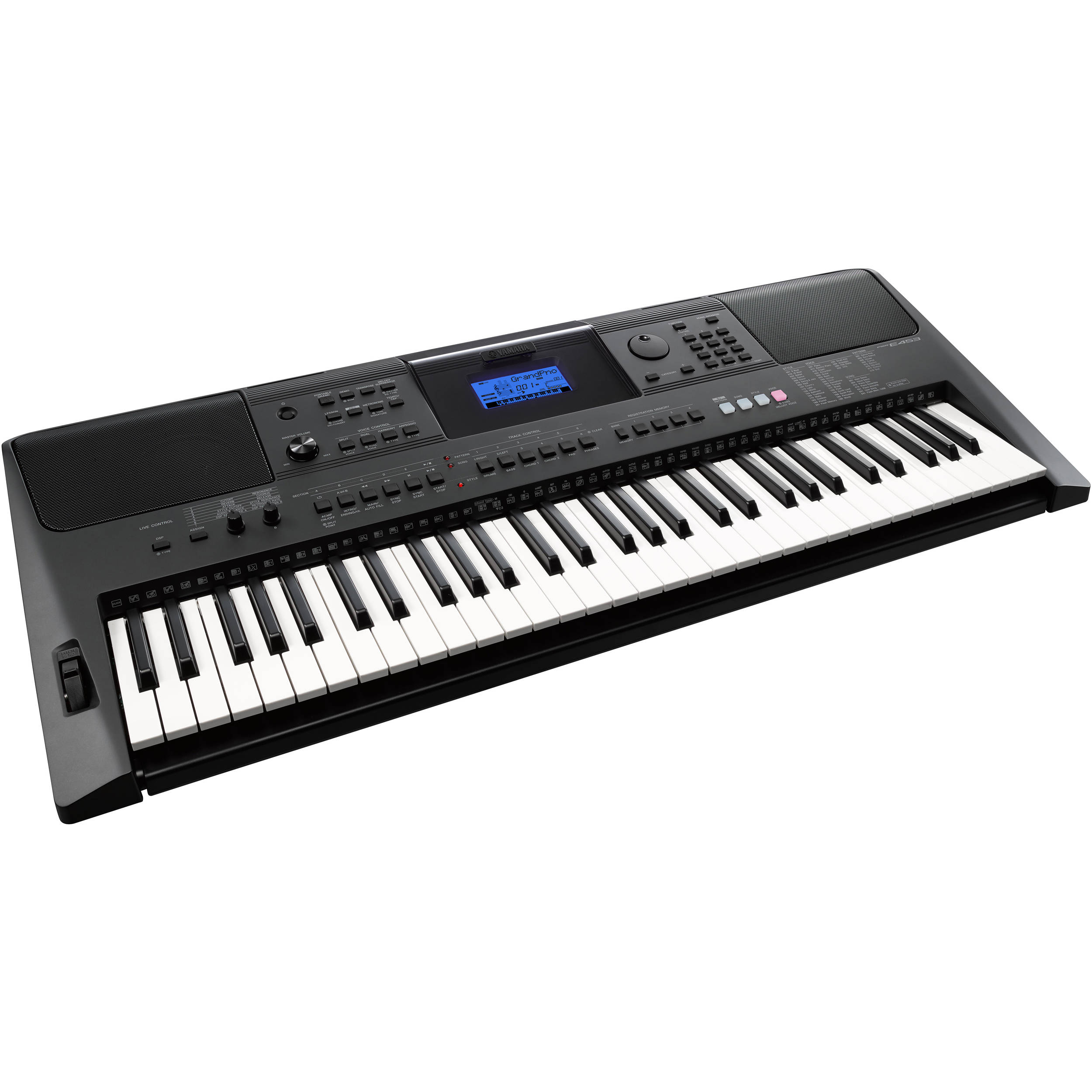 yamaha psr e453 portable keyboard no power adapter psre453. Black Bedroom Furniture Sets. Home Design Ideas
