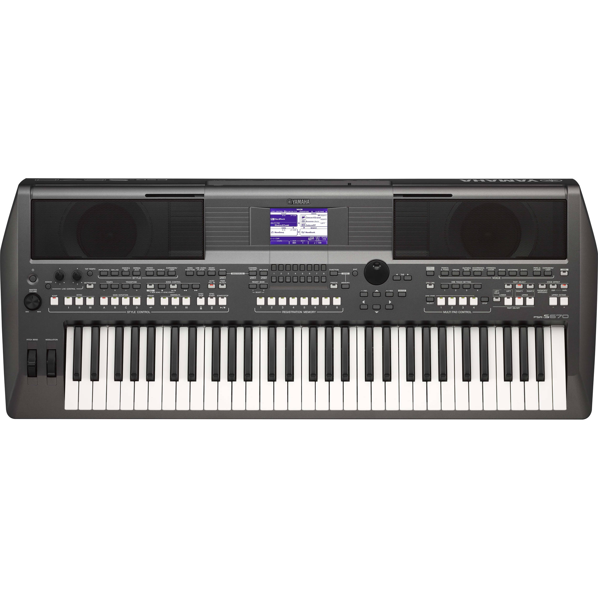 yamaha psr s670 arranger workstation psrs670 b h photo video. Black Bedroom Furniture Sets. Home Design Ideas