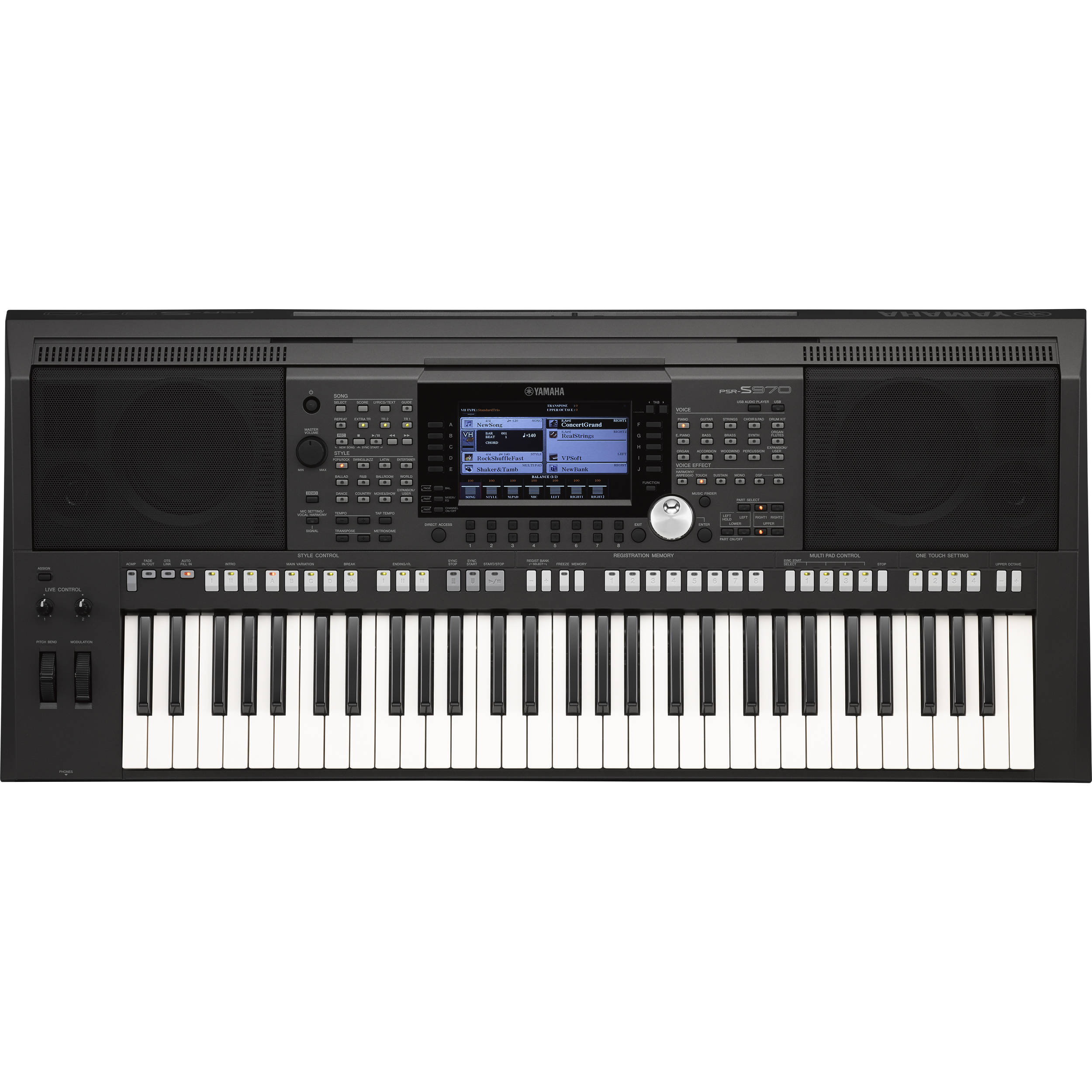 Yamaha psr s970 arranger workstation psrs970 b h photo video for Yamaha professional keyboard price