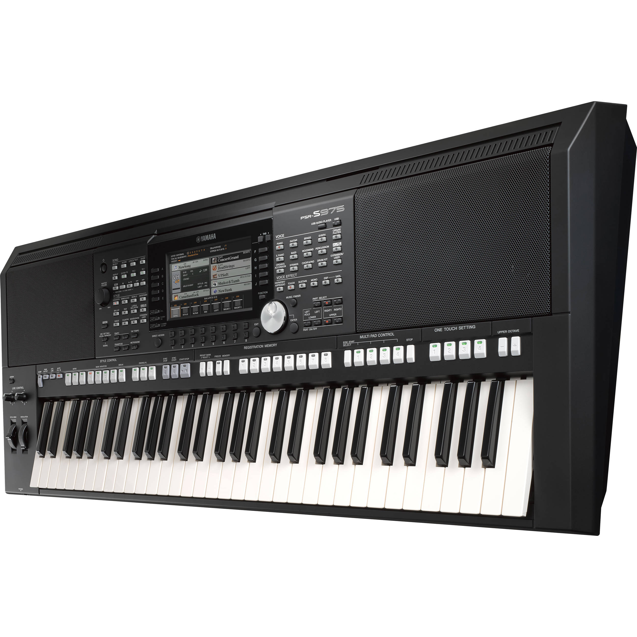 yamaha psr s975 arranger workstation keyboard psrs975 b h. Black Bedroom Furniture Sets. Home Design Ideas