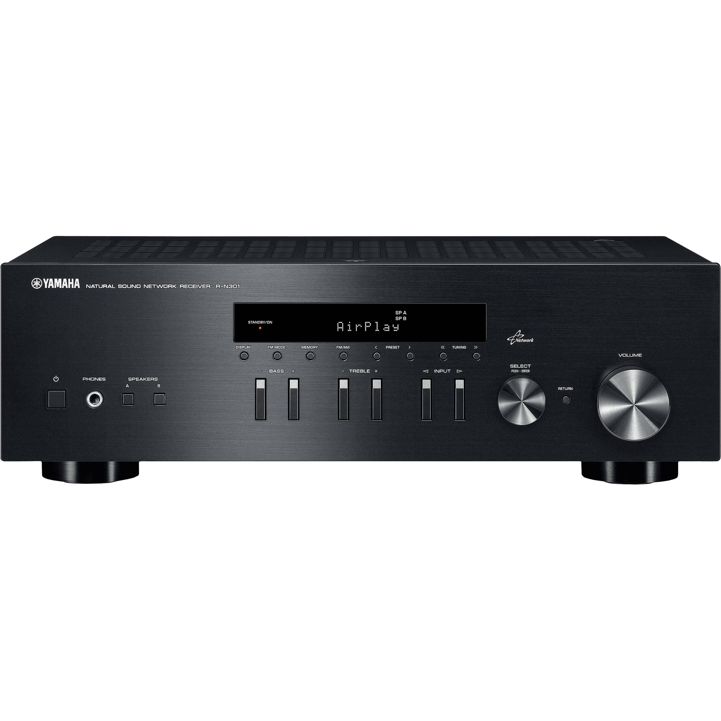 Yamaha R-N301BL 2-Channel Network Receiver (Black)