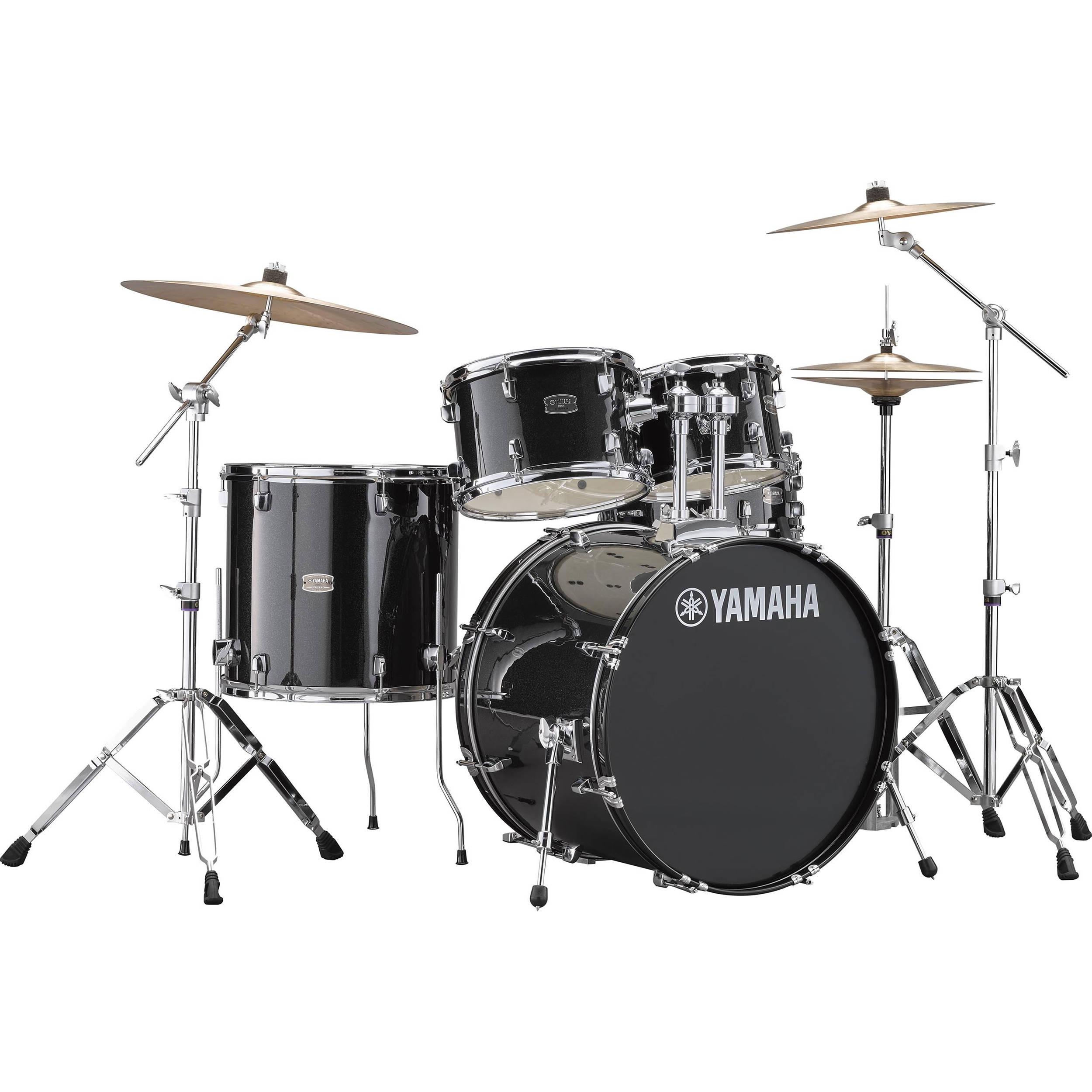 Yamaha Drum Accessories Parts : yamaha rdp2f5 rydeen drum kit black glitter rdp2f5blg b h ~ Vivirlamusica.com Haus und Dekorationen