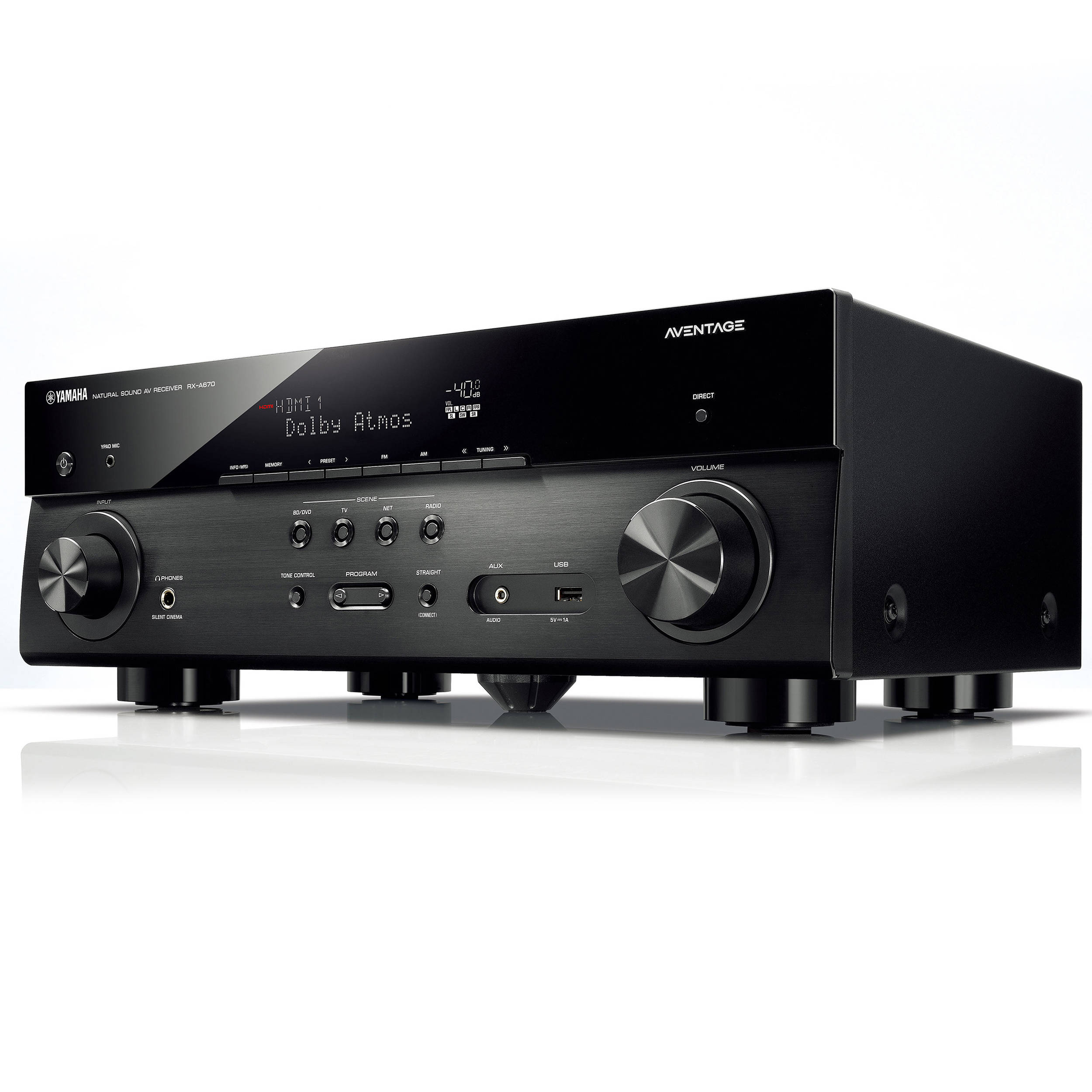 Yamaha aventage rx a670 7 2 channel network a v rx a670bl b h for Yamaha 7 2 receiver reviews